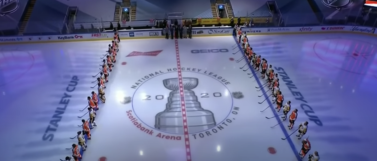 NHL Players Stand For National Anthem During Restart Of Season