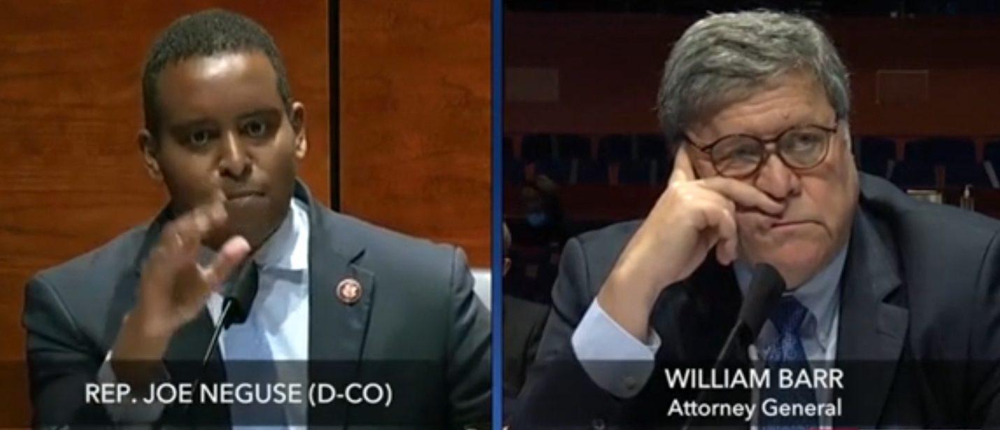 'I'm Gonna Answer The Damn Question': Bill Barr Snaps At Democratic Rep. Joe Neguse