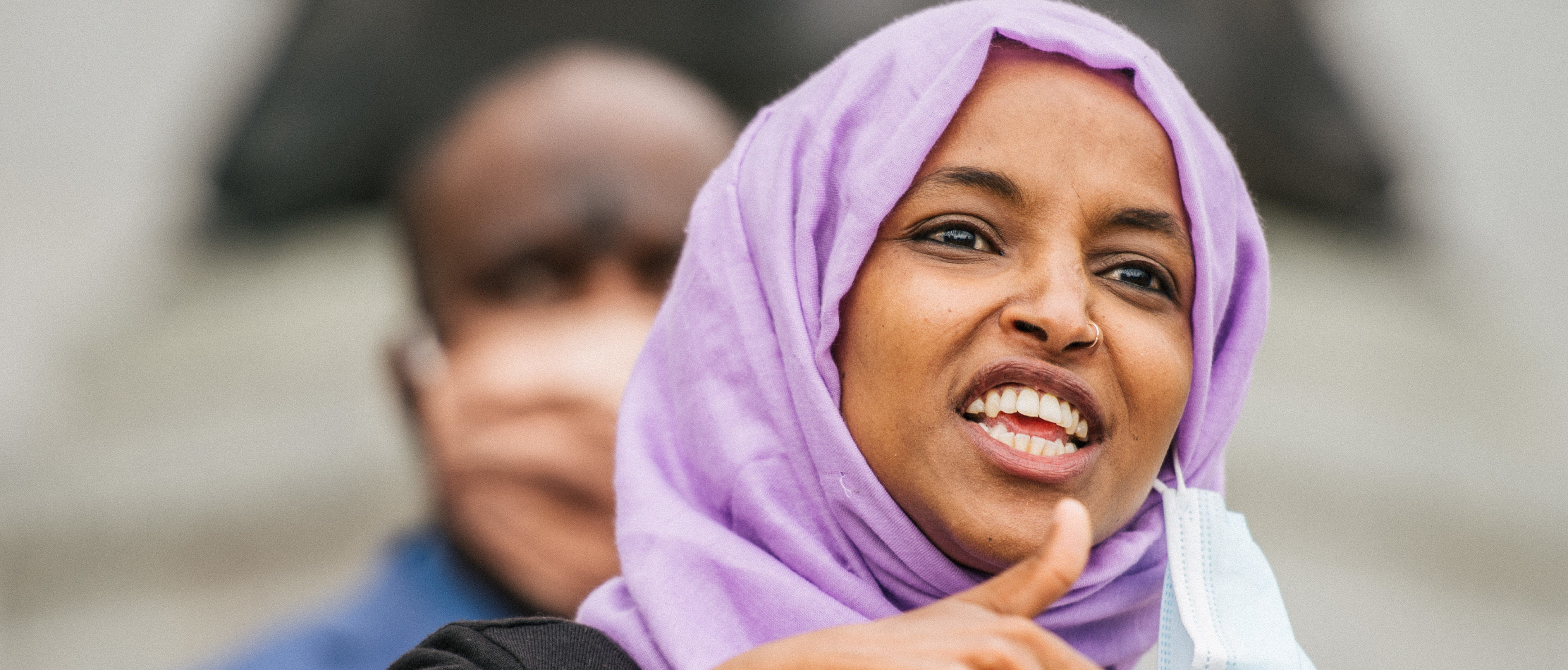 U.S. Rep. Ihan Omar (D-MN) speaks during a press conference on July 7, 2020 in St. Paul, Minnesota. (Brandon Bell/Getty Images)