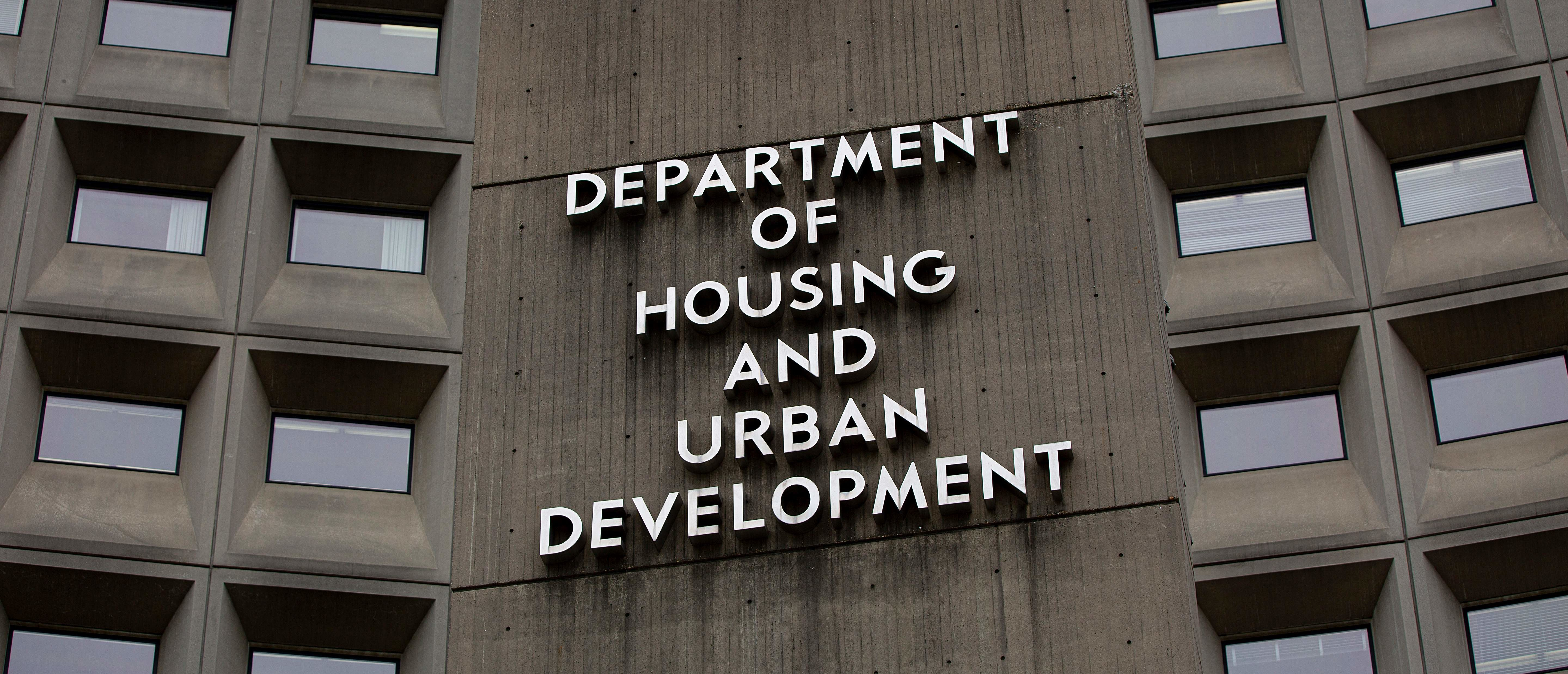 The Department of Housing and Urban Development building is seen in Washington, DC, in July 2019. (Alastair Pike/AFP via Getty Images)