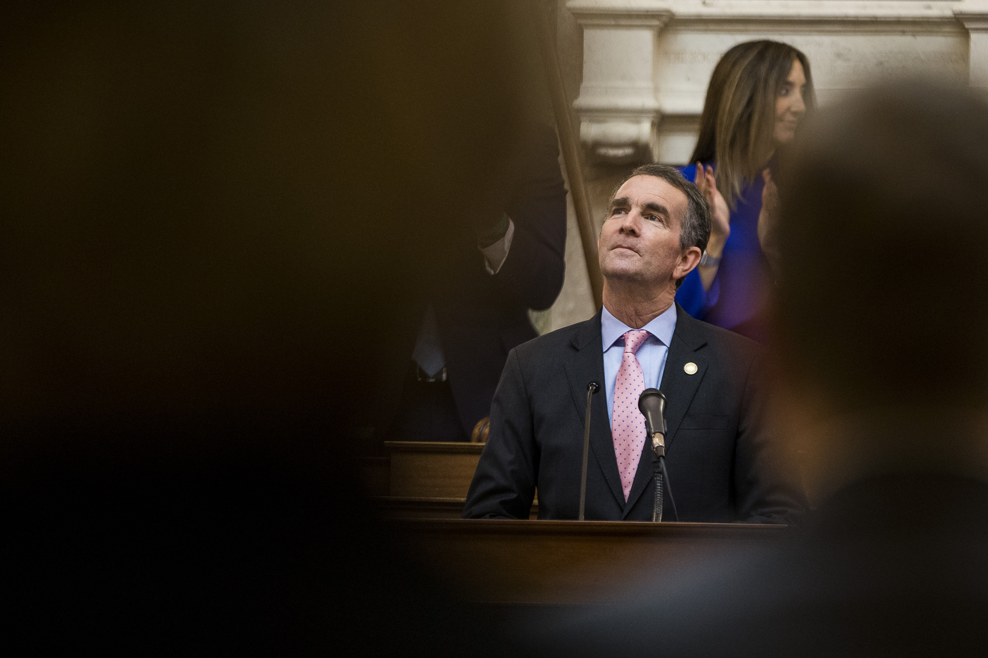 RICHMOND, VA - JANUARY 08: Gov. Ralph Northam delivers the State of the Commonwealth address at the Virginia State Capitol on January 8, 2020 in Richmond, Virginia. The 2020 legislative session began today under Democratic control. (Zach Gibson/Getty Images)