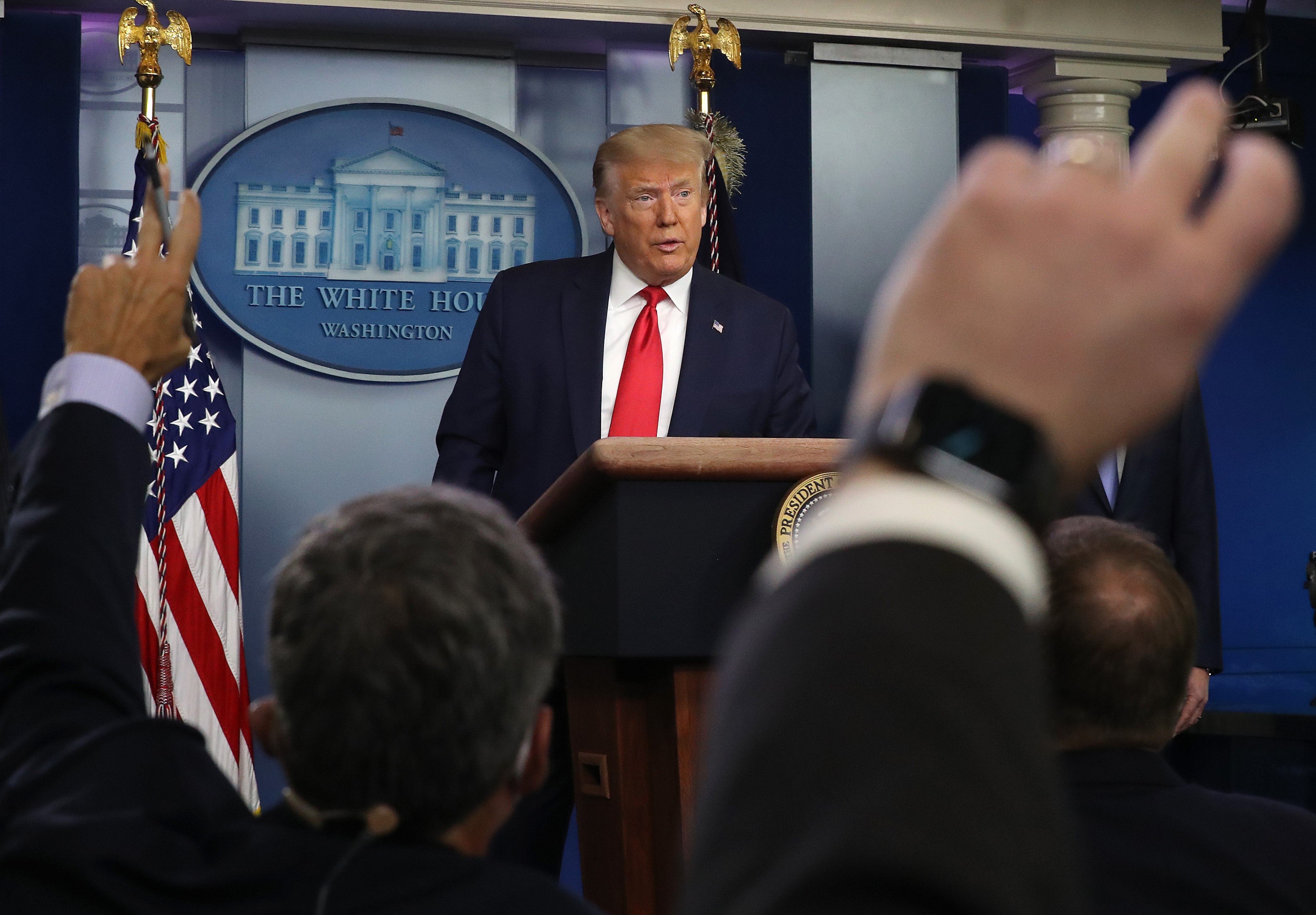 U.S. President Donald Trump speaks to the media in the briefing room at the White House on July 2, 2020 in Washington, DC. (Chip Somodevilla/Getty Images)