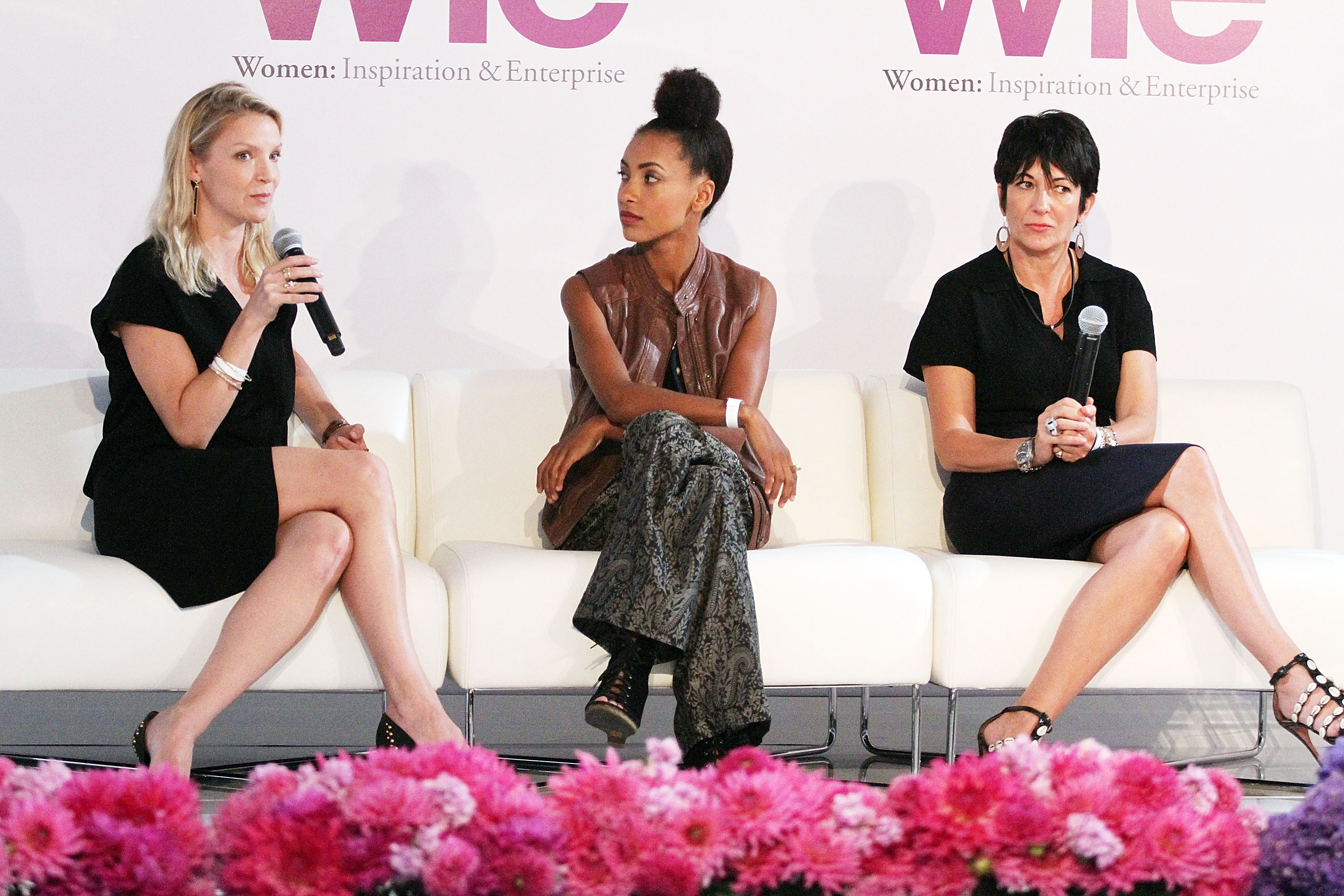 Kristy Caylor, Esperanza Spalding and Ghislaine Maxwell attend day 1 of the 4th Annual WIE Symposium at Center 548 on September 20, 2013 in New York City. (Photo by Laura Cavanaugh/Getty Images)