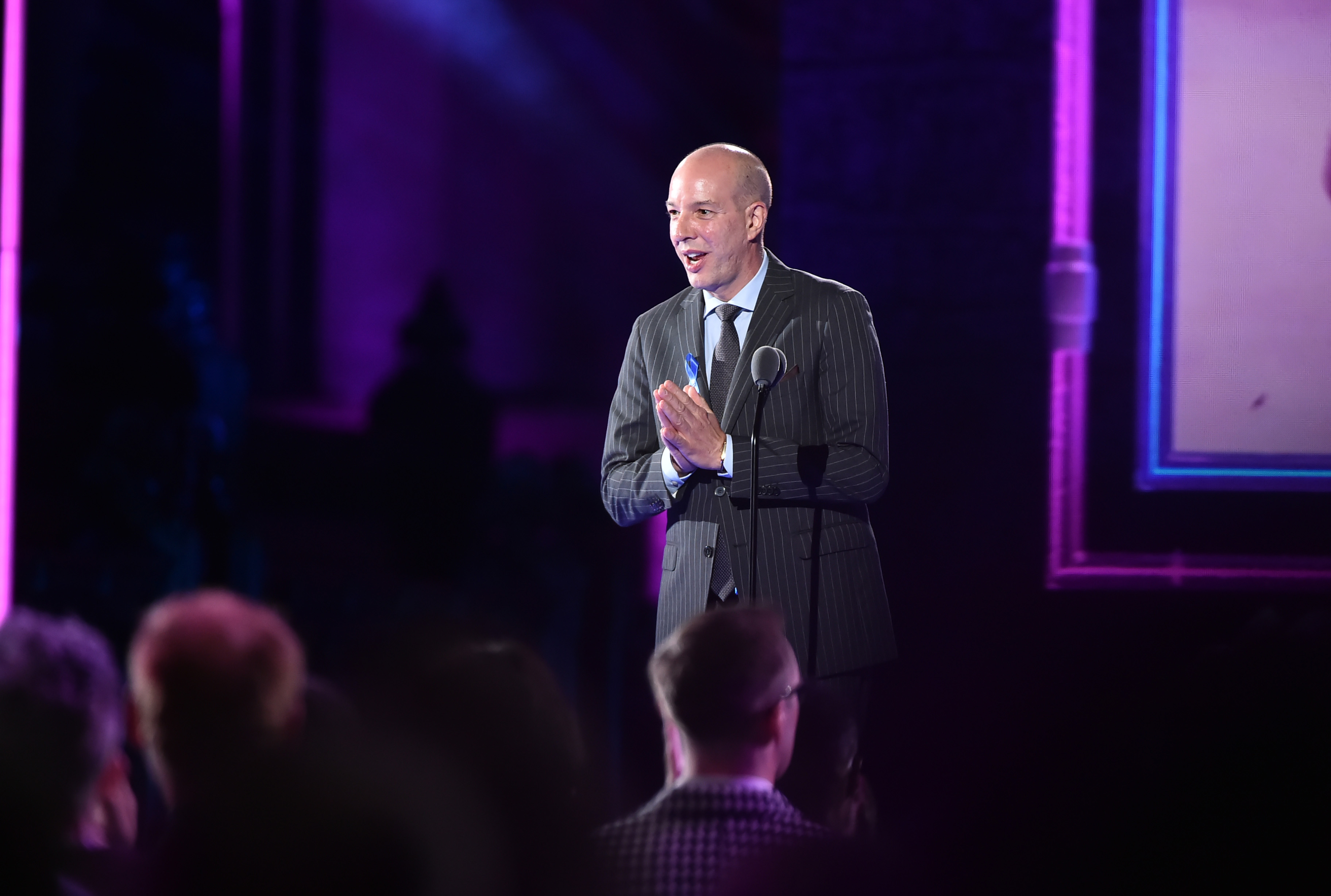 NEW YORK, NY - JUNE 21: Honoree, Executive Director of the American Civil Liberties Union Anthony D. Romero speaks on stage during VH1 Trailblazer Honors 2018 at The Cathedral of St. John the Divine on June 21, 2018 in New York City. (Photo by Theo Wargo/Getty Images for VH1 Trailblazer Honors)