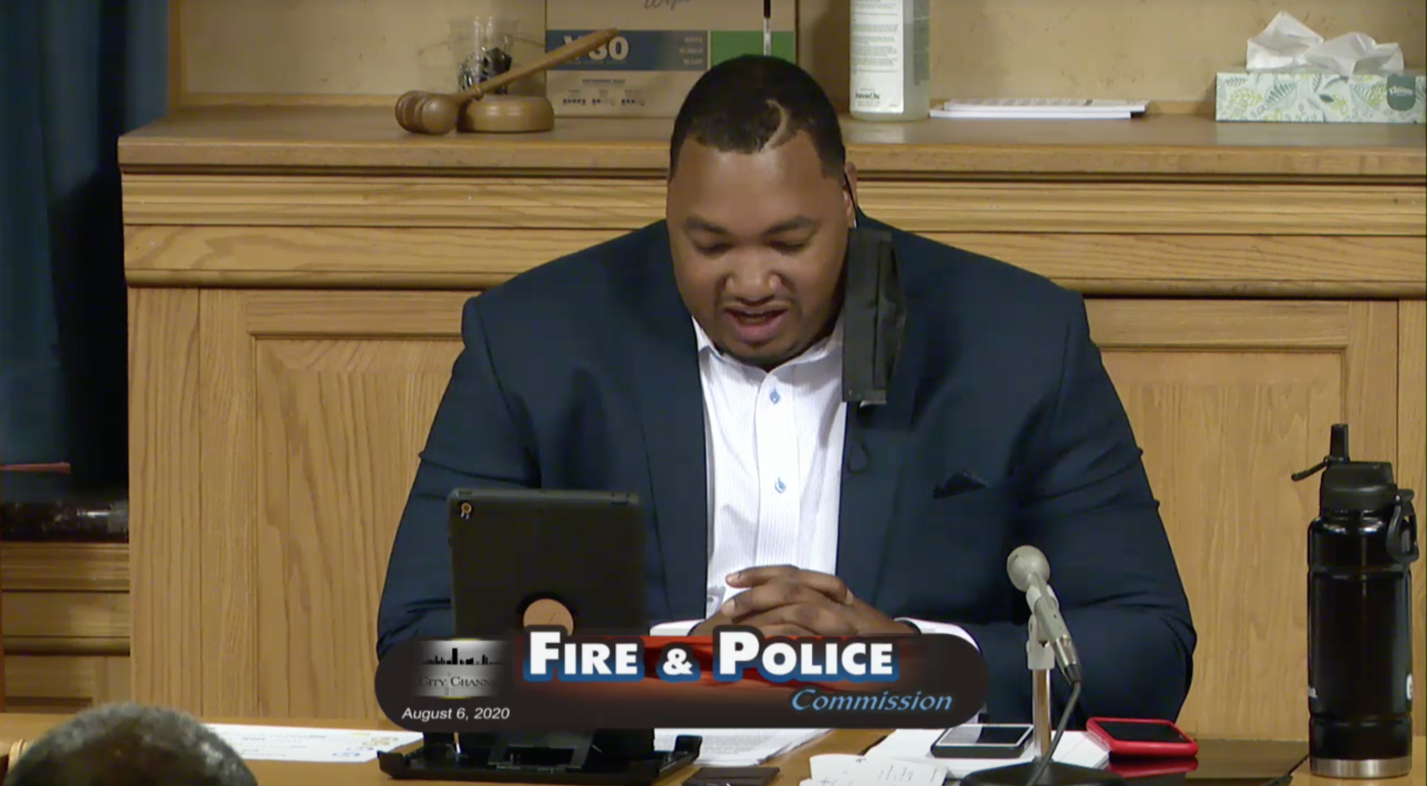 FPC Chair Steven DeVougas speaks during the commission's meeting Thursday. (City of Milwaukee/Screenshot)