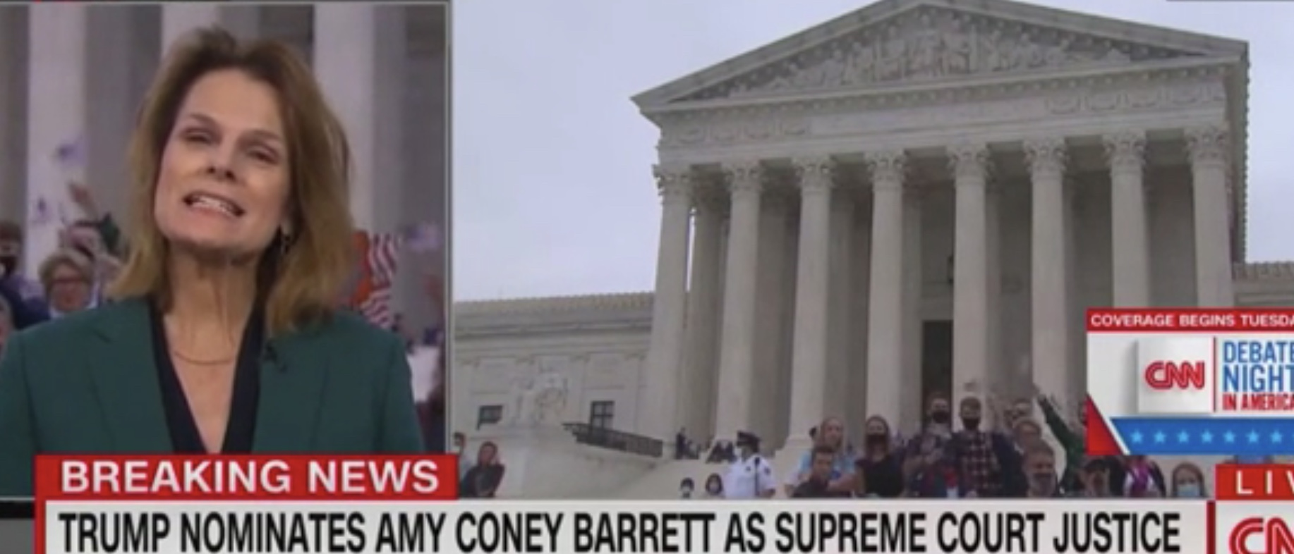 CNN Reporter`s Live Shot At Supreme Court Crashed...