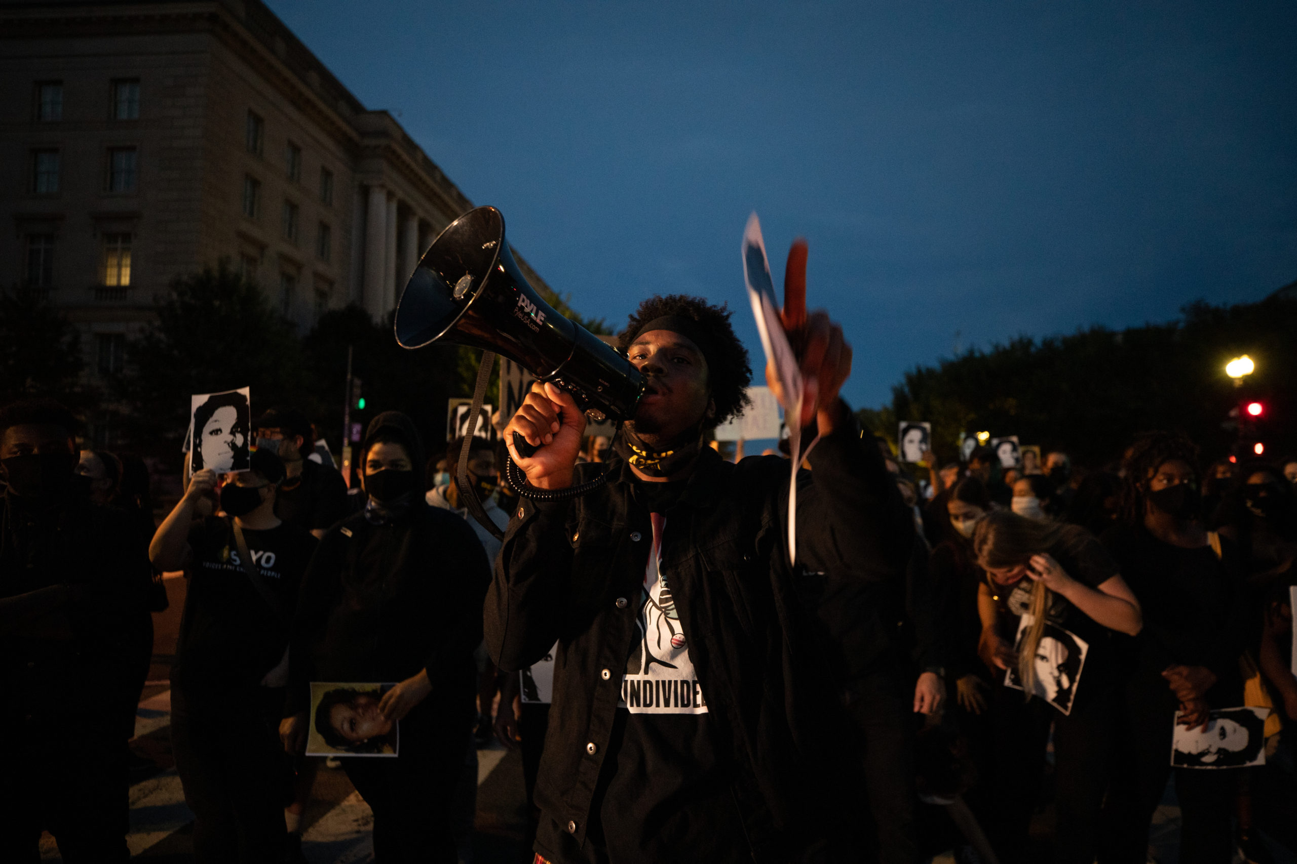 Protesters honored Breonna Taylor as they walked from the Department of Justice to Black Lives Matter Plaza in Washington, D.C. on Sept. 23. (Photo: Kaylee Greenlee / DCNF)