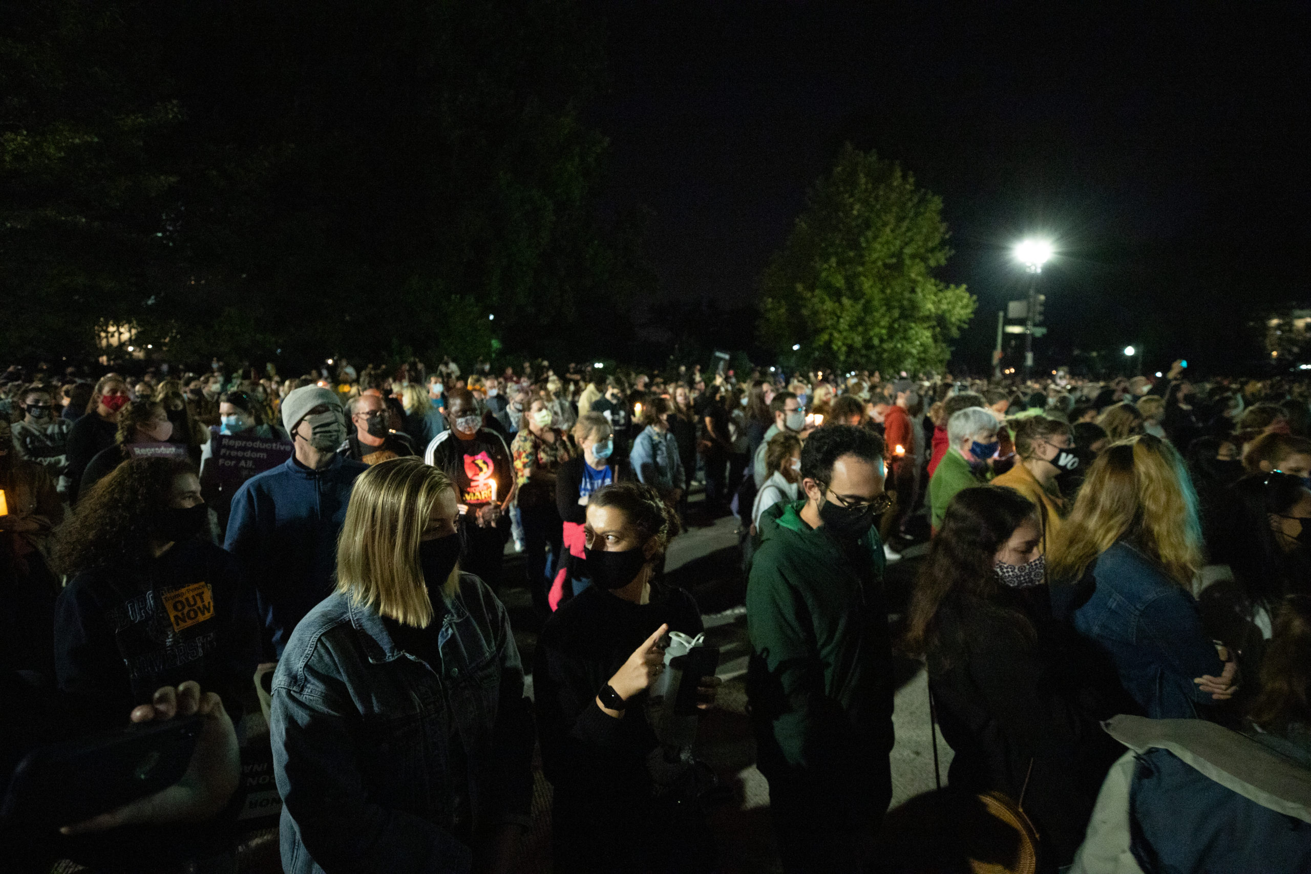 Hundreds attend a memorial honoring the late Justice Ruth Bader Ginsburg on Sept. 19, 2020. (Photo: Kaylee Greenlee / The DCNF)
