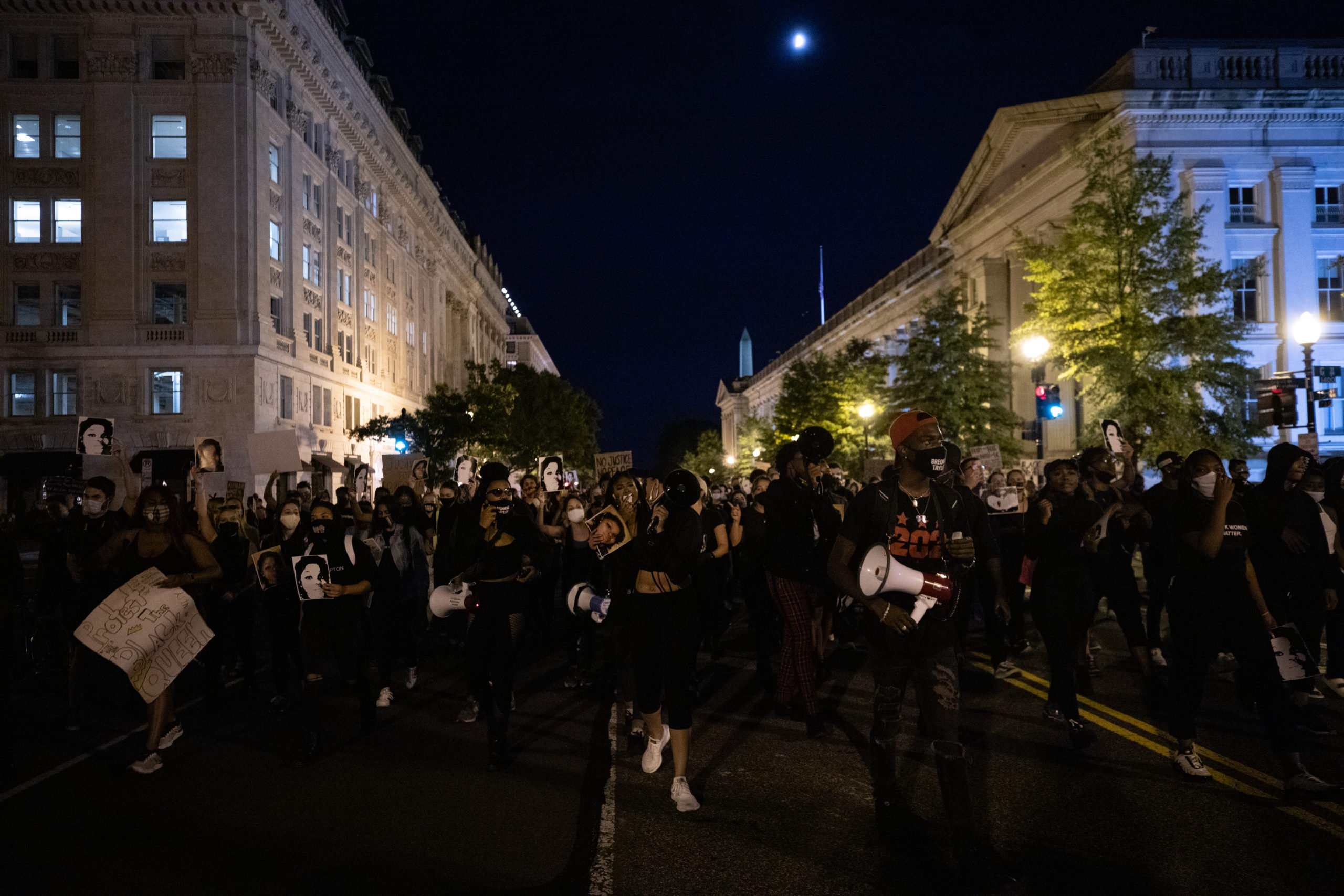 Protesters marched from the Department of Justice to Black Lives Matter Plaza for Breonna Taylor in Washington, D.C. on Sept. 23. (Photo: Kaylee Greenlee / DCNF)