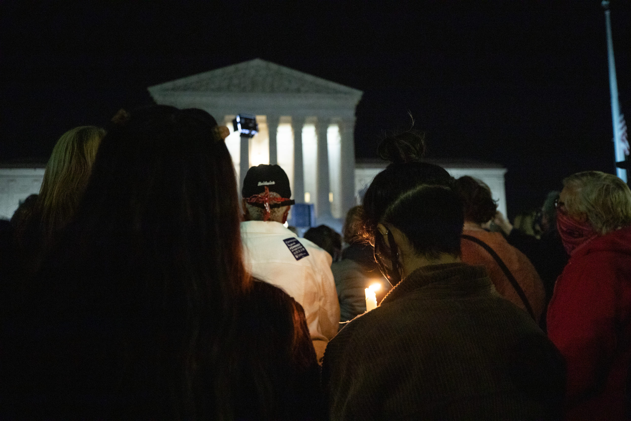 Many held lit candles outside the Supreme Court at a memorial honoring the late Justice Ruth Bader Ginsburg on Sept. 19, 2020. (Photo: Kaylee Greenlee / The DCNF)