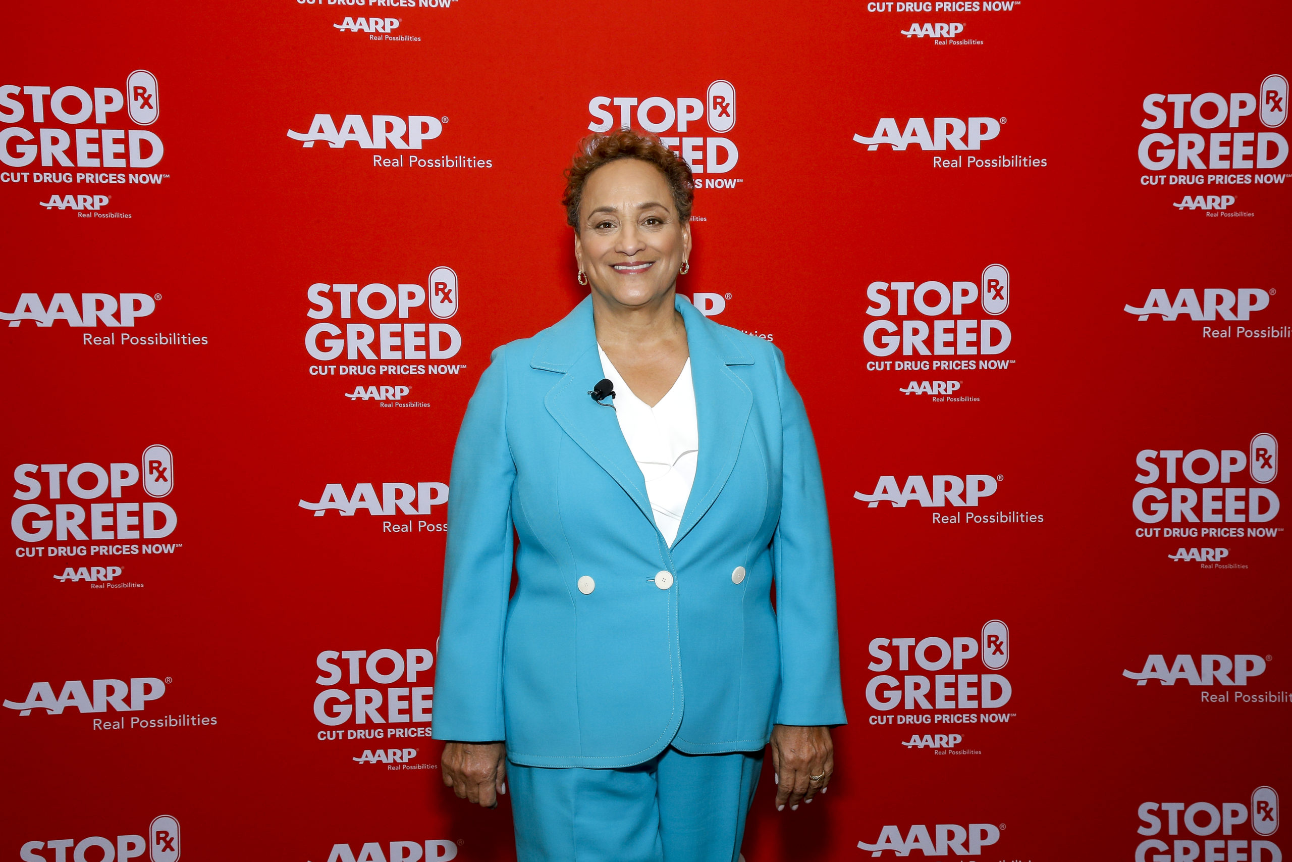 AARP CEO Jo Ann Jenkins poses before hosting the first of a series of town halls at Florida State University in 2019. (Don Juan Moore/Getty Images for AARP)