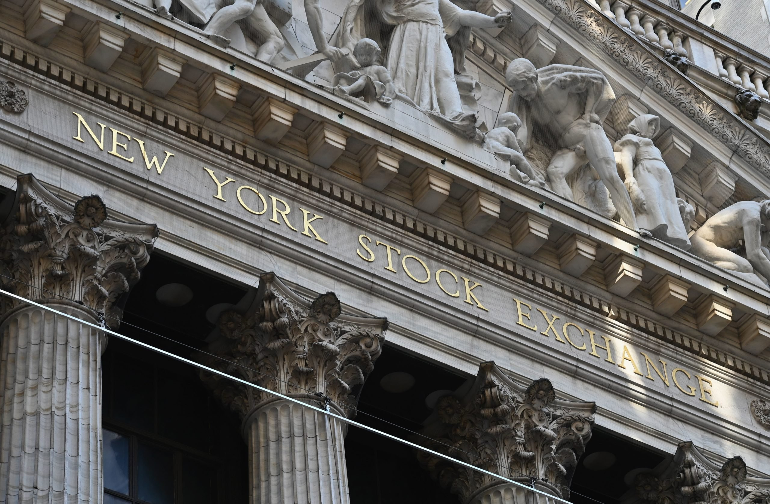A view of the New York Stock Exchange is seen at Wall Street on June 29, 2020 in New York City. (Angela Weiss/AFP via Getty Images)