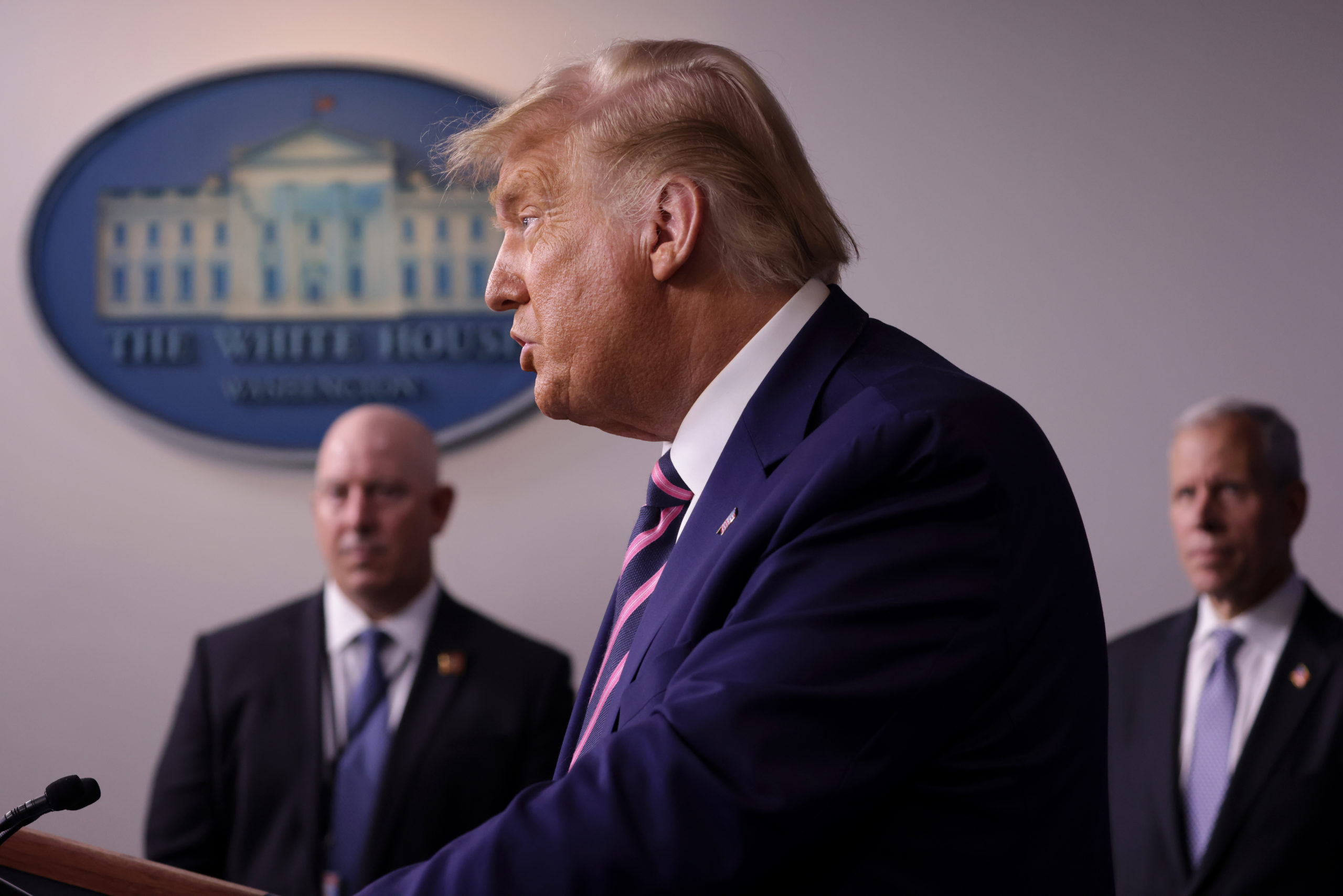 WASHINGTON, DC - SEPTEMBER 18: U.S. President Donald Trump speaks during a news conference in the James Brady Press Briefing Room of the White House September 18, 2020 in Washington, DC. President Trump will travel to Bemidji, Minnesota, later today to campaign for the upcoming presidential election. (Photo by Alex Wong/Getty Images)