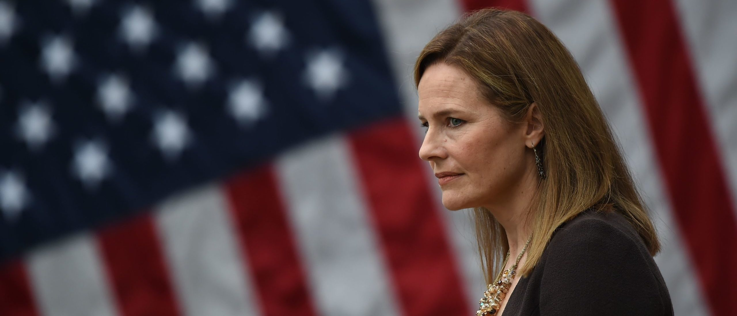 Judge Amy Coney Barrett is nominated to the US Supreme Court by President Donald Trump in the Rose Garden of the White House in Washington, DC on September 26, 2020. (Olivier Douliery/AFP via Getty Images)