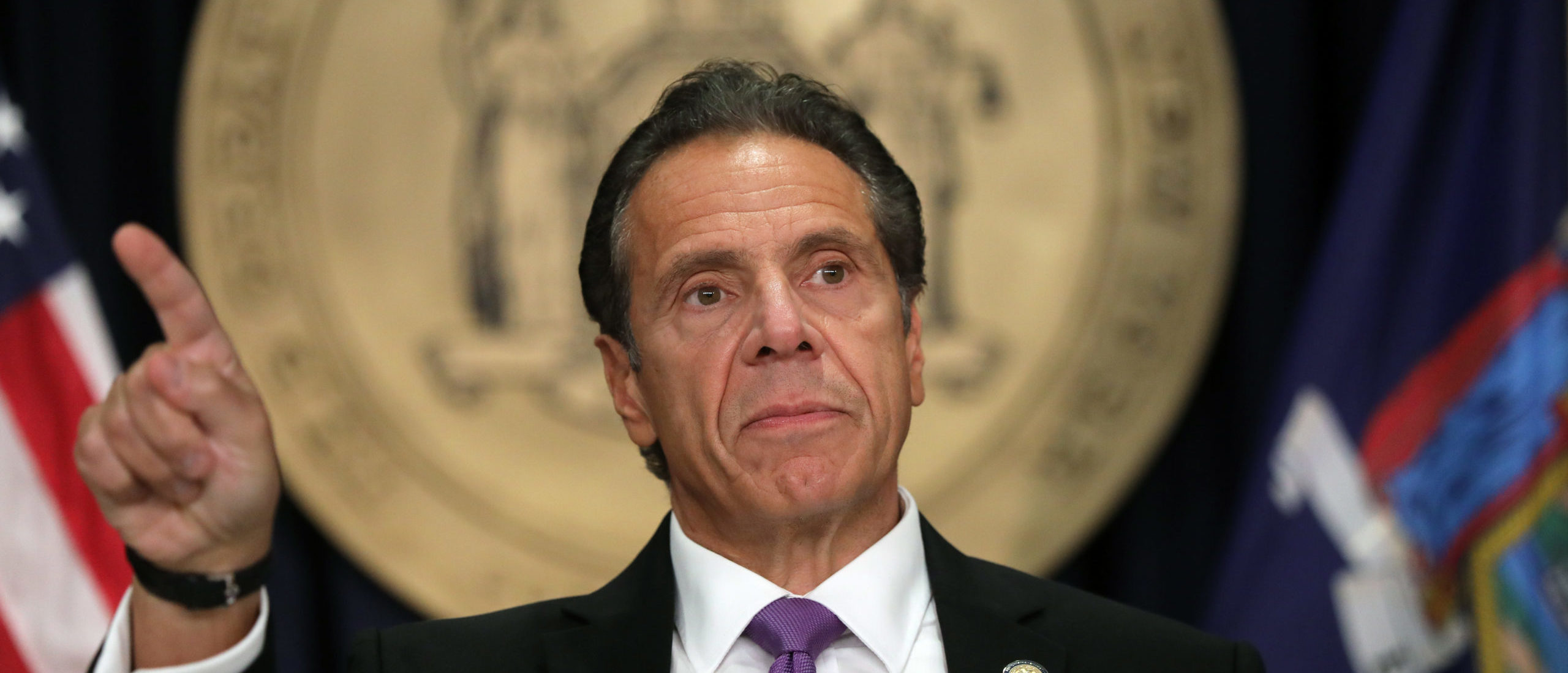 New York state Gov. Andrew Cuomo speaks at a news conference on September 08, 2020 in New York City. Cuomo, though easing restrictions on casinos and malls throughout the state, has declined to do so for indoor dining in restaurants in New York City despite pressure from business owners, citing struggles by the city to enforce the state's previous orders. (Photo by Spencer Platt/Getty Images)