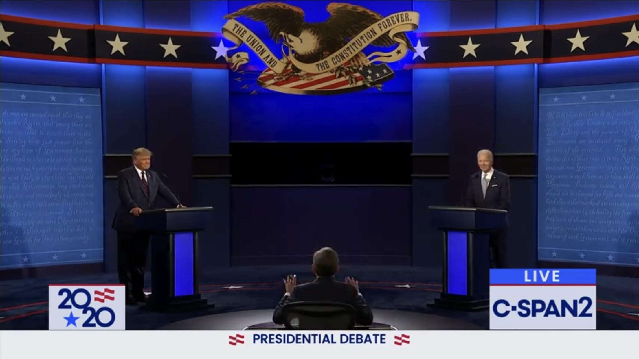 President Trump and Vice President Joe Biden clashed in a interruption-laden debate in Ohio on Tuesday night. (Screenshot/Youtube/Fox Business)