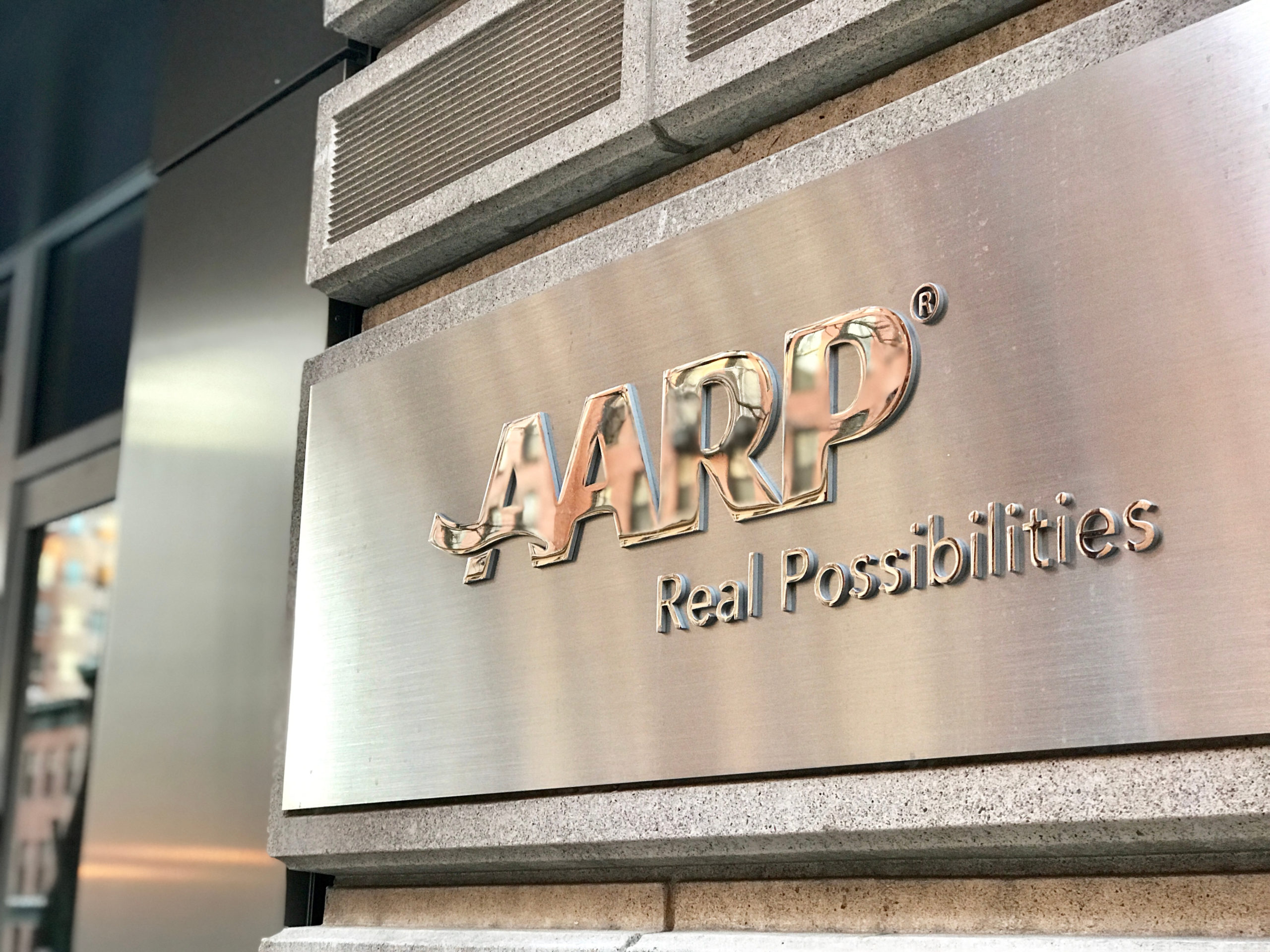 The facade of AARP's Washington D.C. headquarters. (Jer123/Shutterstock)