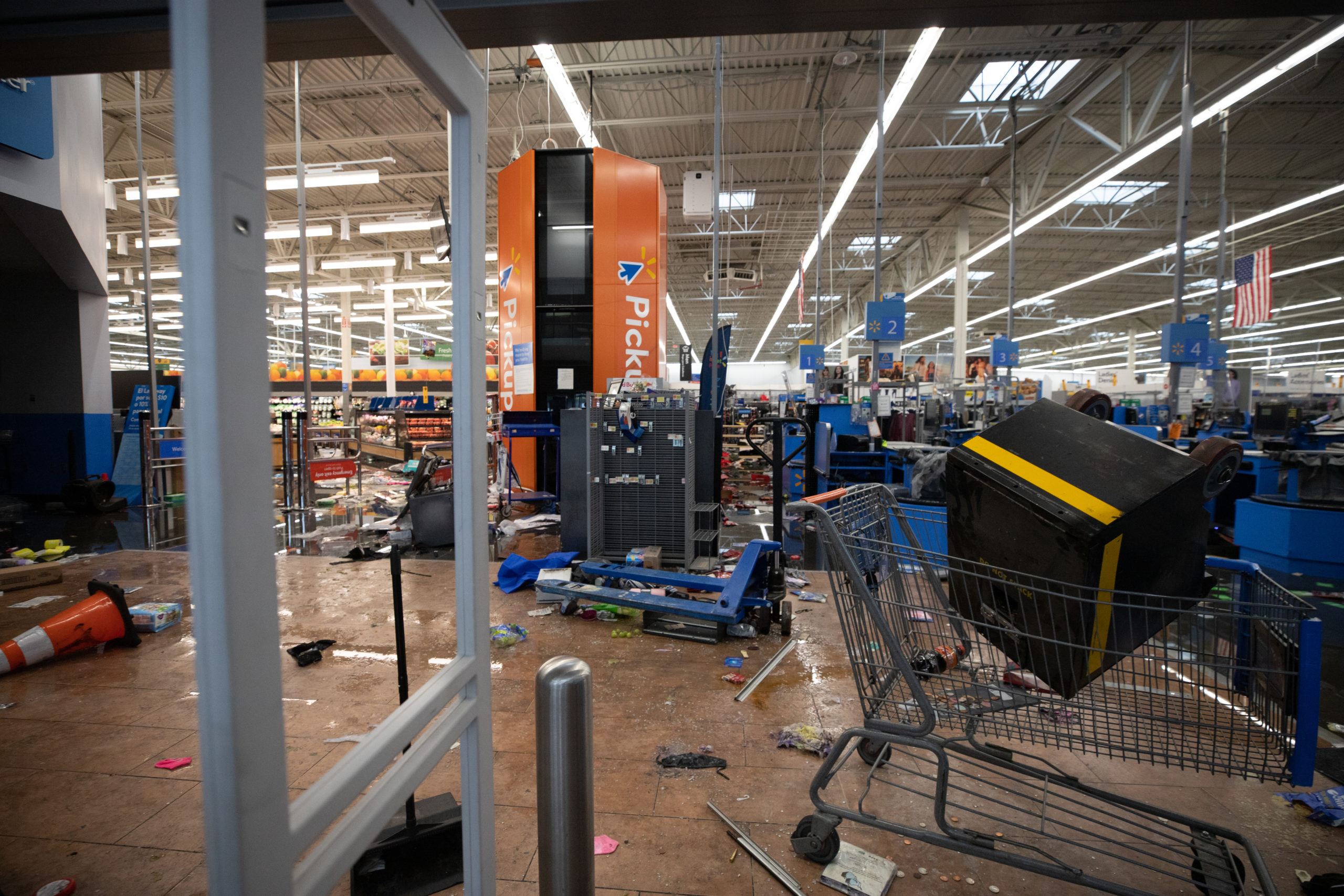 The morning after looters destroyed the Walmart located at 2200 Wheatsheaf Ln. in Philadelphia, Pennsylvania, on Oct. 28, 2020. (Kaylee Greenlee - Daily Caller News Foundation.