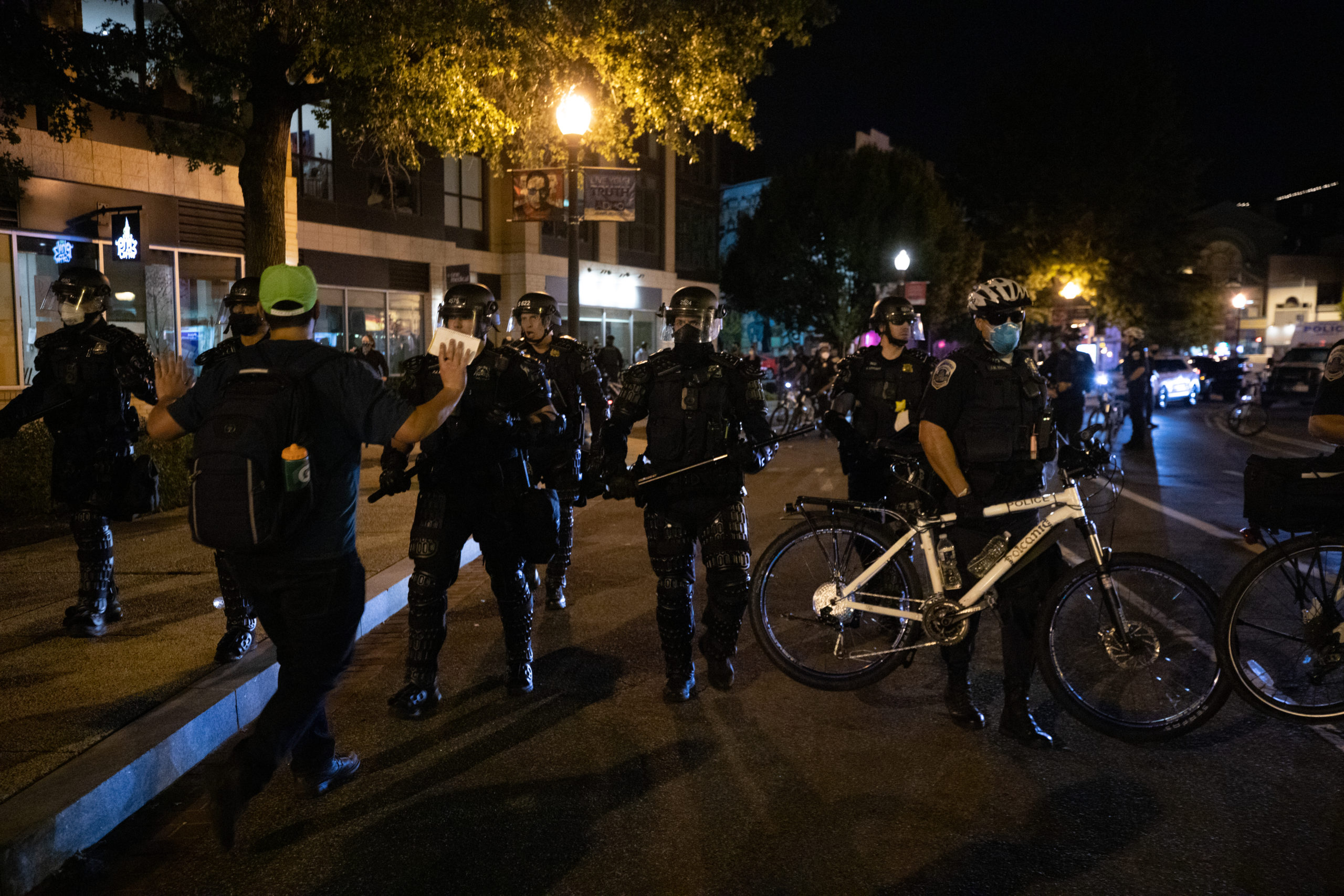 Protesters march through residential streets in Washington, D.C. on Sept. 23, 2020. (Kaylee Greenlee - DCNF)