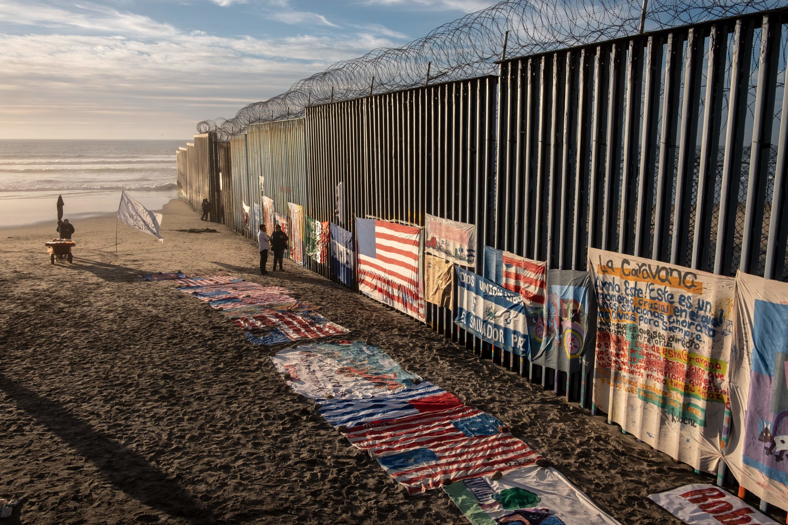 A section of the US-Mexico border fence is seen on Jan. 8, 2019. (Guillermo Arias/AFP via Getty Images)