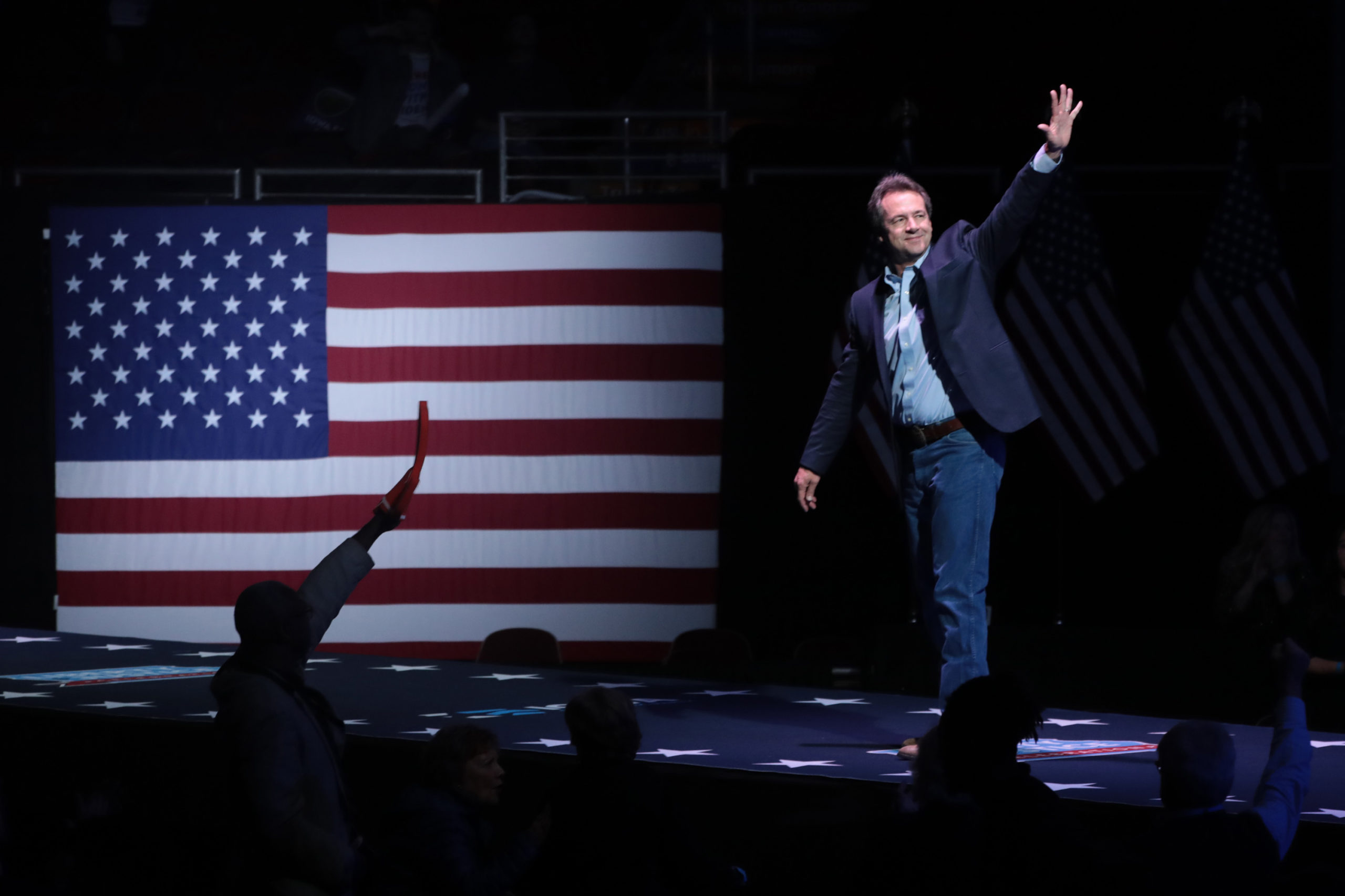 DES MOINES, IOWA - NOVEMBER 01: Democratic presidential candidate Montana governor Steve Bullock speaks at the Liberty and Justice Celebration at the Wells Fargo Arena on November 01, 2019 in Des Moines, Iowa. Fourteen of the candidates hoping to win the Democratic nomination for president are expected to speak at the Celebration. (Photo by Scott Olson/Getty Images)