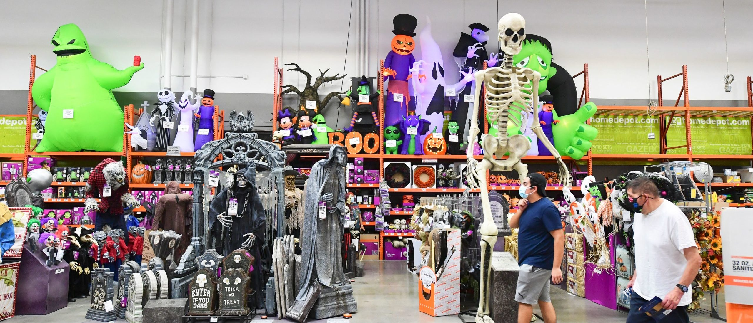 Halloween and Christmas are two of the top spending holidays in the United States, but retailers are spooked by Halloween this year due to the coronavirus pandemic. (Photo by FREDERIC J. BROWN/AFP/Getty Images)