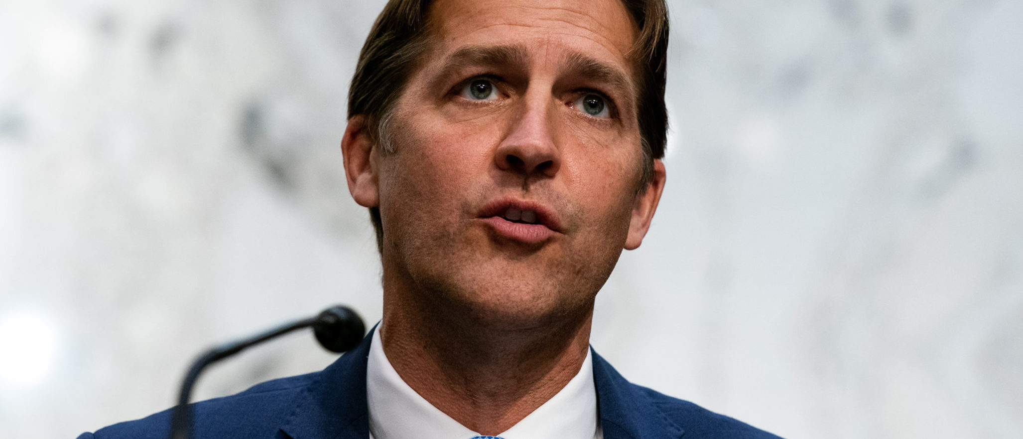 WASHINGTON, DC - OCTOBER 13: U.S. Sen. Ben Sasse (R-NE) speaks while Supreme Court nominee Judge Amy Coney Barrett testifies before the Senate Judiciary Committee on the second day of her Supreme Court confirmation hearing on Capitol Hill on October 13, 2020 in Washington, DC. Barrett was nominated by President Donald Trump to fill the vacancy left by Justice Ruth Bader Ginsburg who passed away in September. (Anna Moneymaker-Pool/Getty Images)