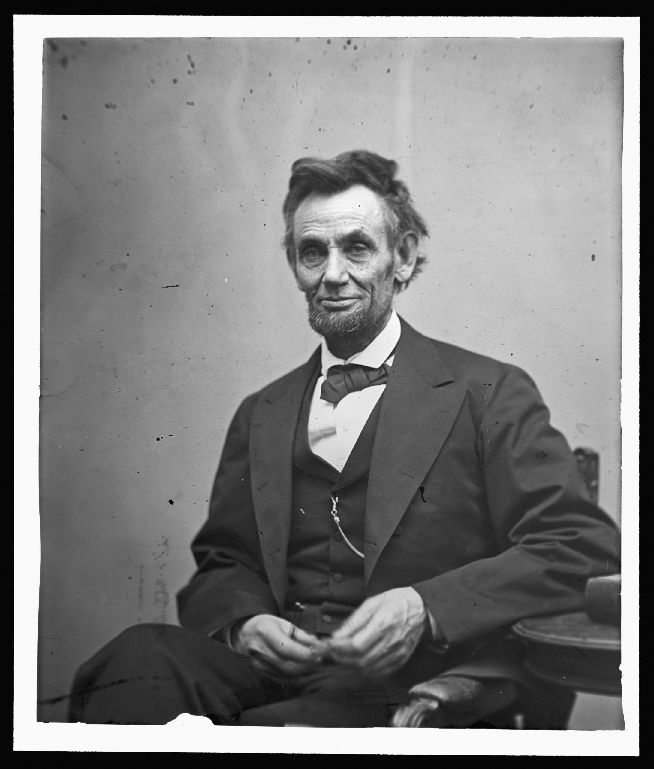 FEBRUARY 5: In this image from the U.S. Library of Congress, U.S. President Abraham Lincoln sits for a portrait February 5, 1865. (Photo by Alexander Gardner/U.S. Library of Congress via Getty Images)