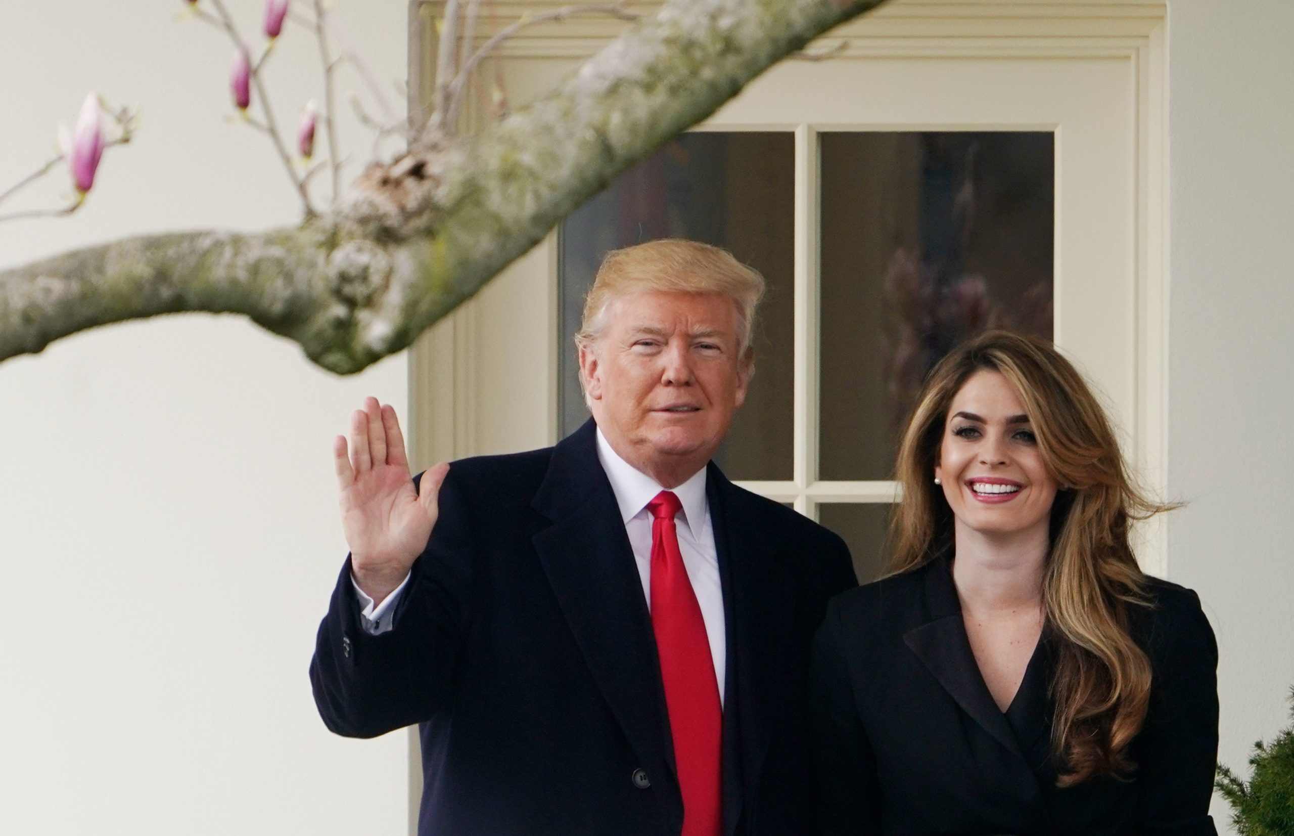 President Donald Trump poses with Hope Hicks at the White House in 2018. (Mandel Ngan/AFP via Getty Images)