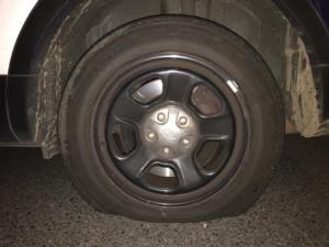Flat police cruiser tires/PPB Blog