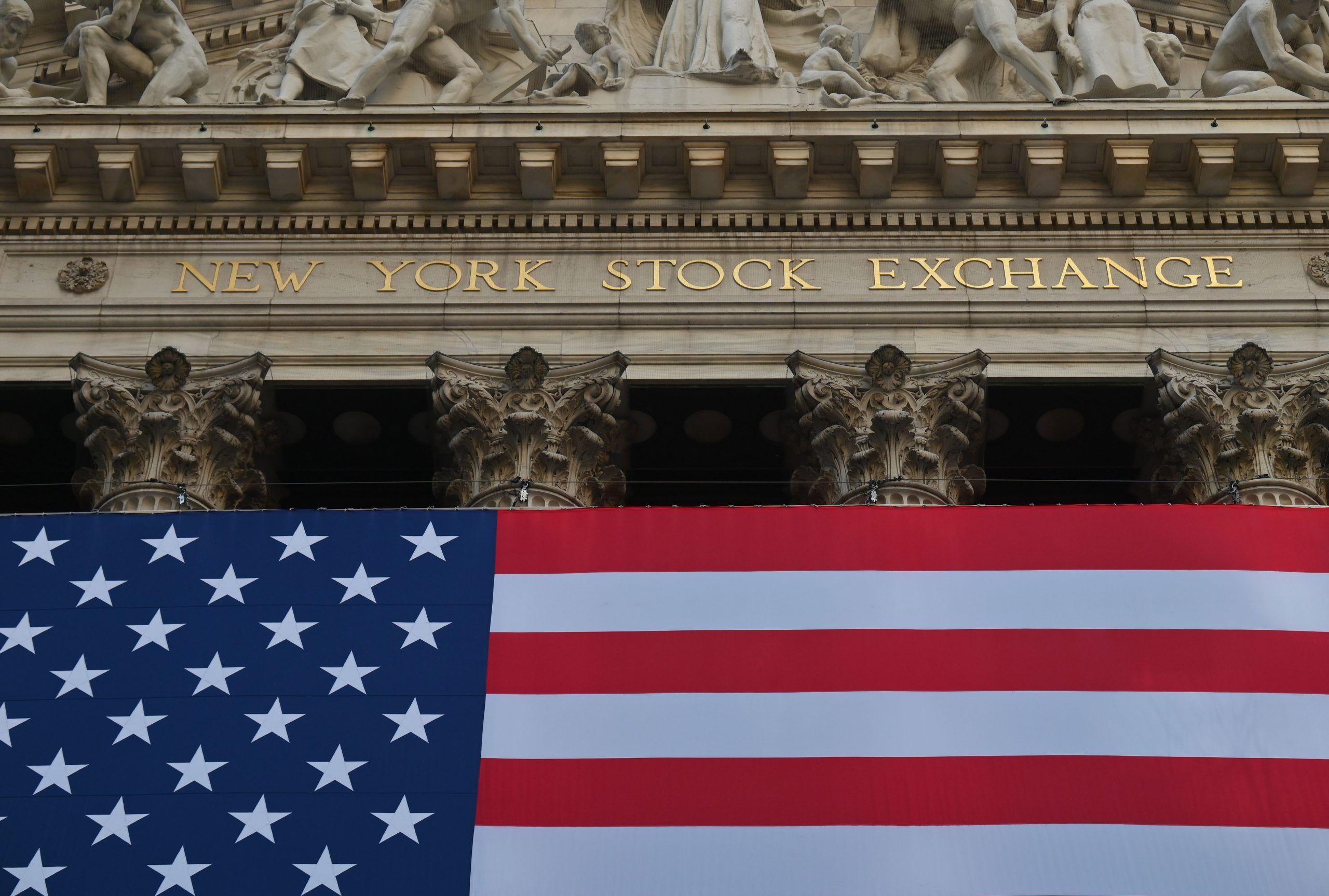 View of the New York Stock Exchange on Wall Street on Nov. 16 in New York City. (Angela Weiss/AFP via Getty Images)
