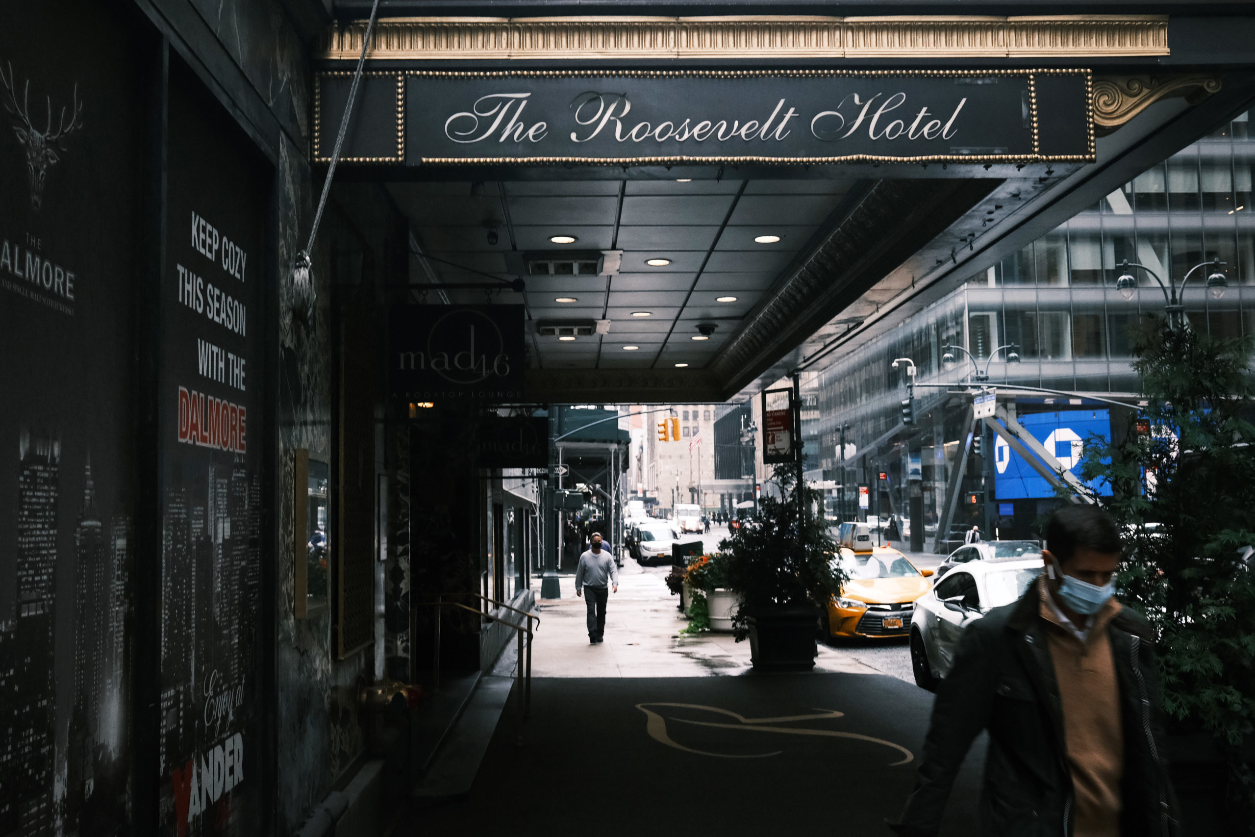 The Roosevelt Hotel, one of New York's oldest and most storied hotels, announced on Oct. 13 that it will be closing due to a plunge in tourism as a result of the coronavirus pandemic. (Spencer Platt/Getty Images)