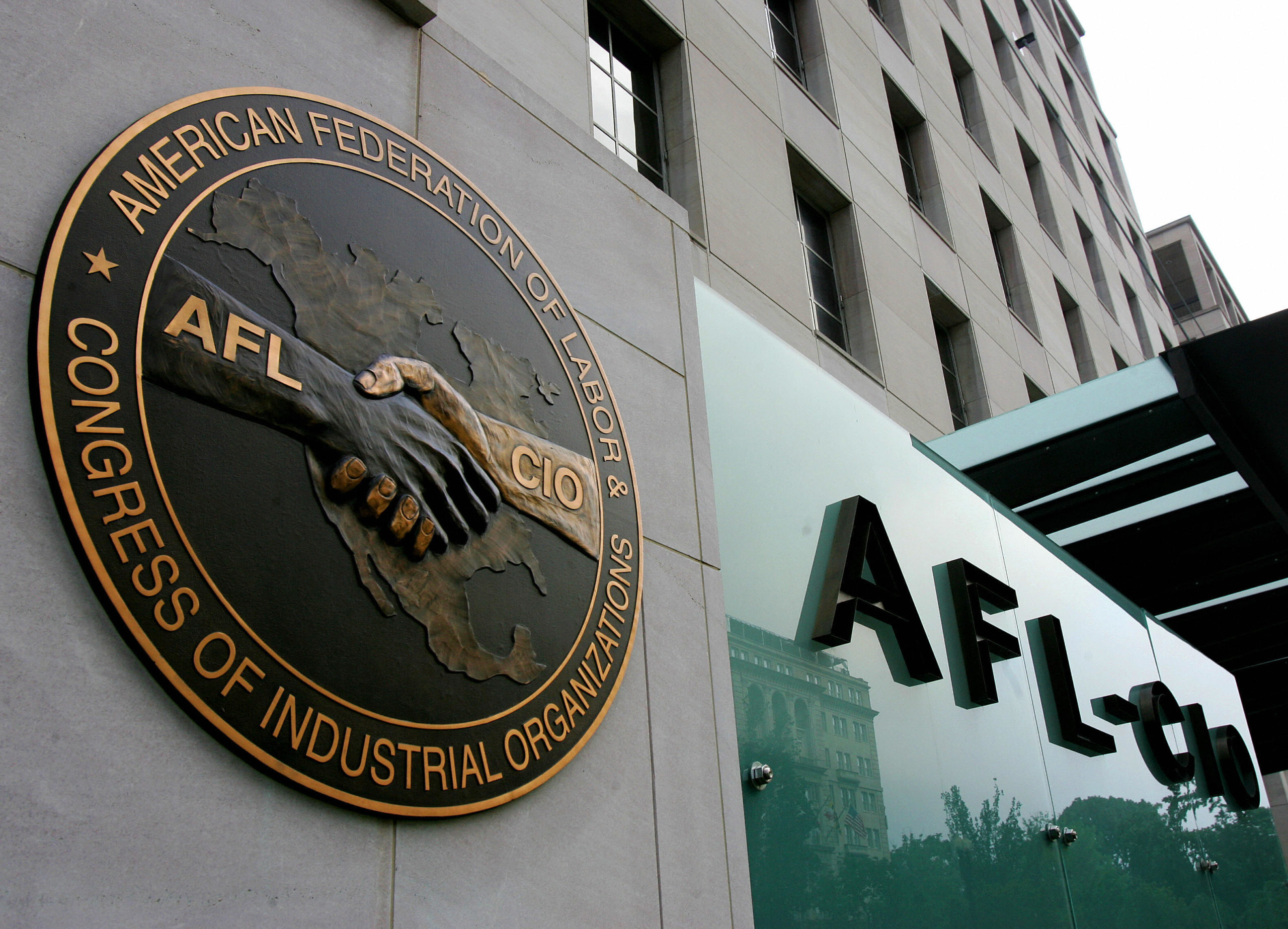 The AFL-CIO headquarters is shown in Washington, D.C. (Paul J. Richards/Getty Images)