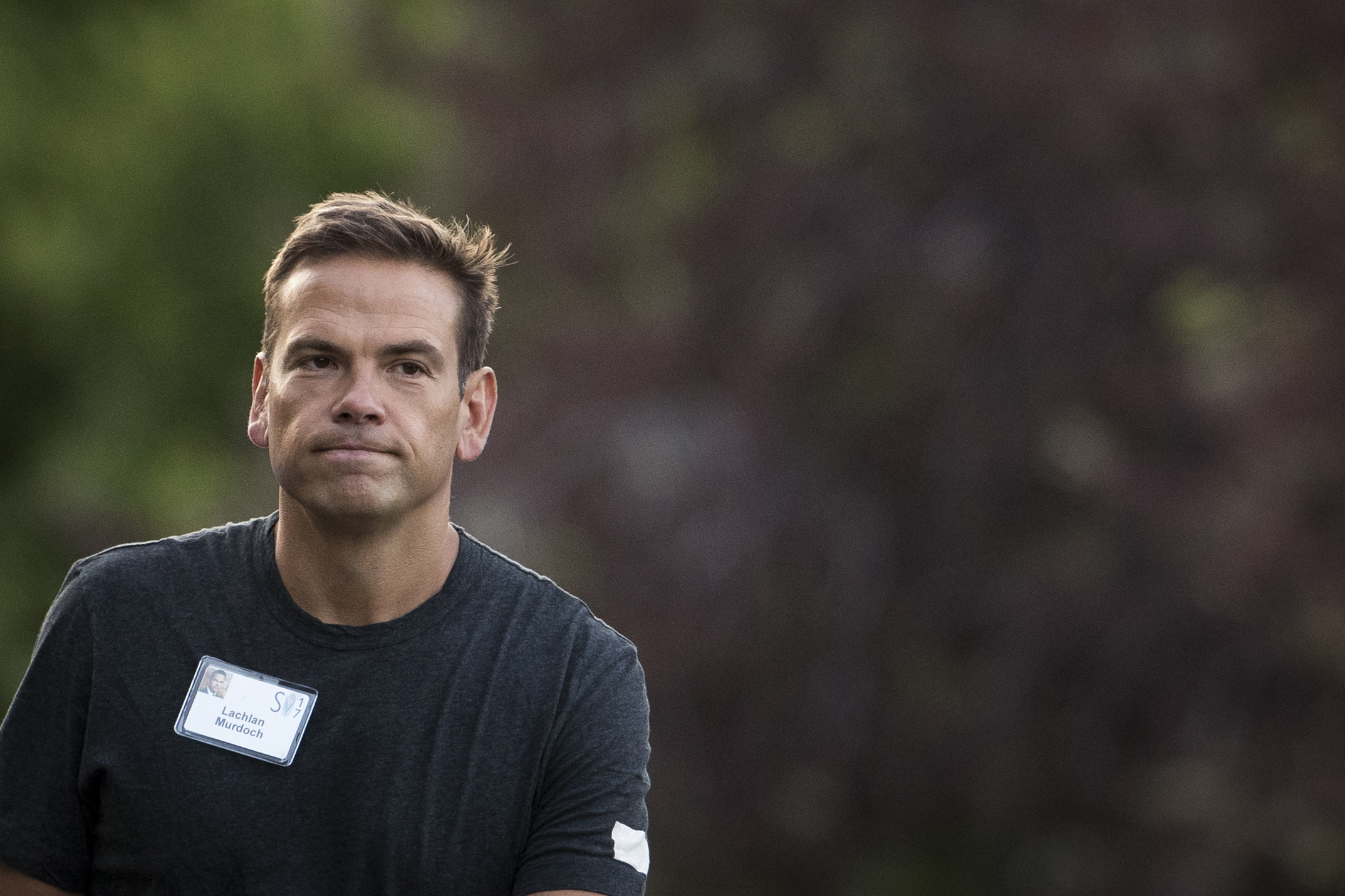 Lachlan Murdoch, CEO of Fox Corp., arrives on the third day of the annual Allen & Company Sun Valley Conference, July 13, 2017 in Sun Valley, Idaho. (Drew Angerer/Getty Images)