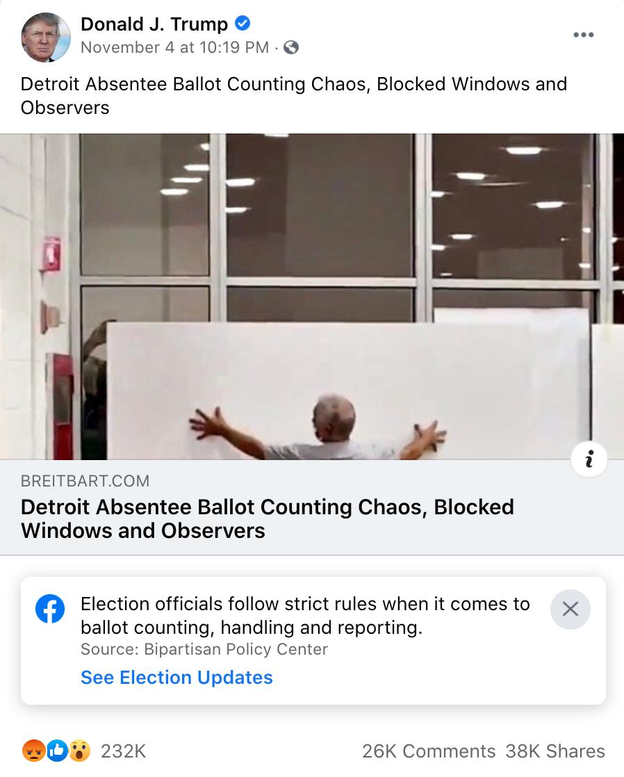 Screenshot, Facebook.