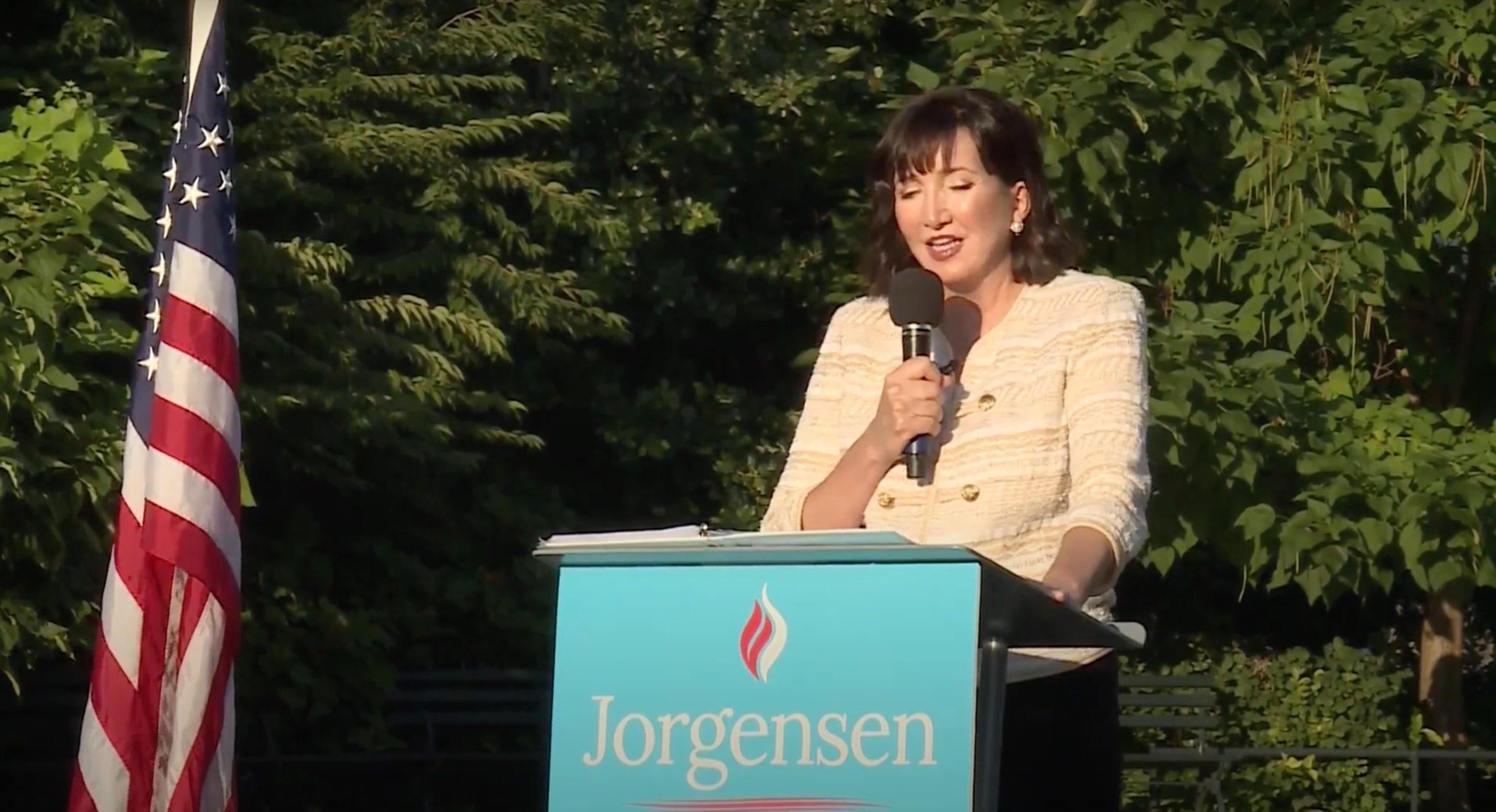 Libertarian Party presidential nominee Jo Jorgensen campaigns in St. Louis, Missouri in August. (FOX 2 St. Louis/Video screenshot/YouTube)