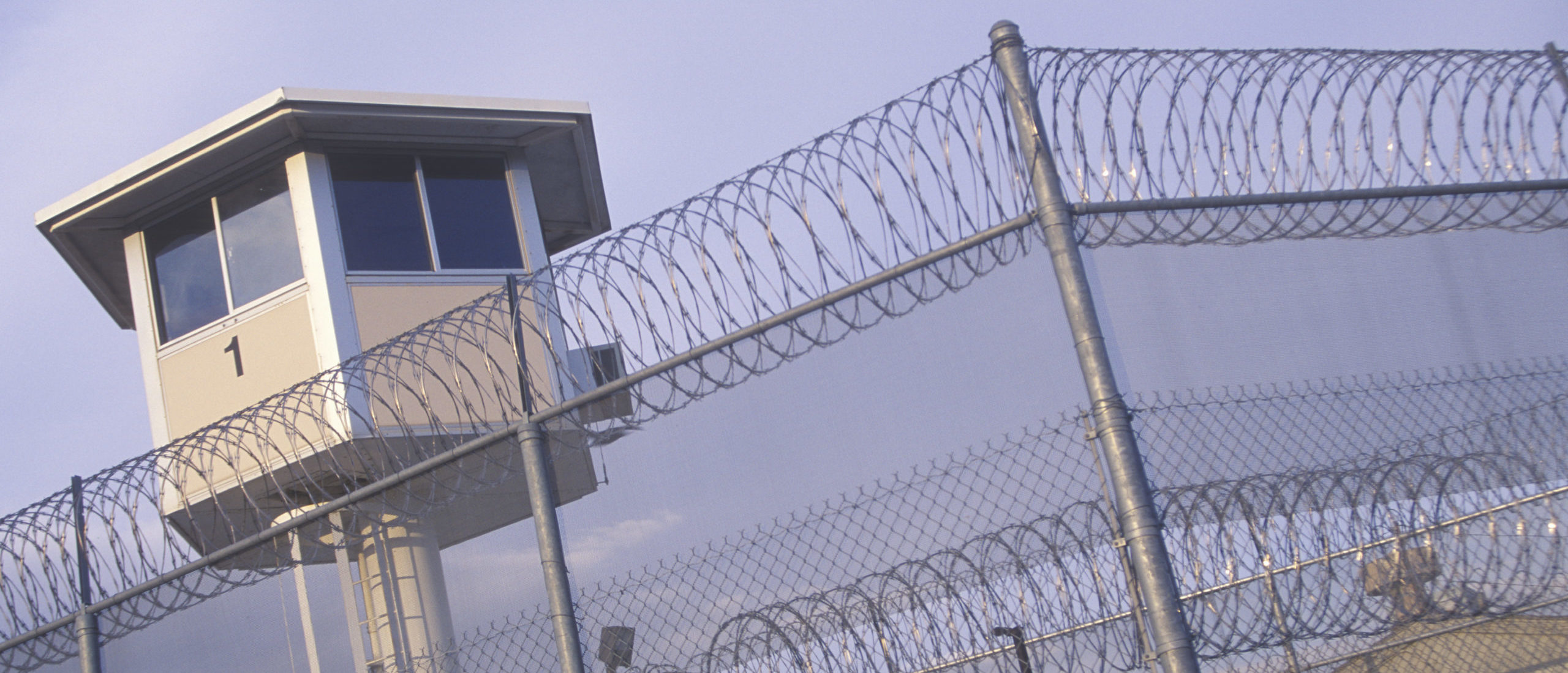 Watch tower at a CA State Prison by Joseph Sohm. Shutterstock.