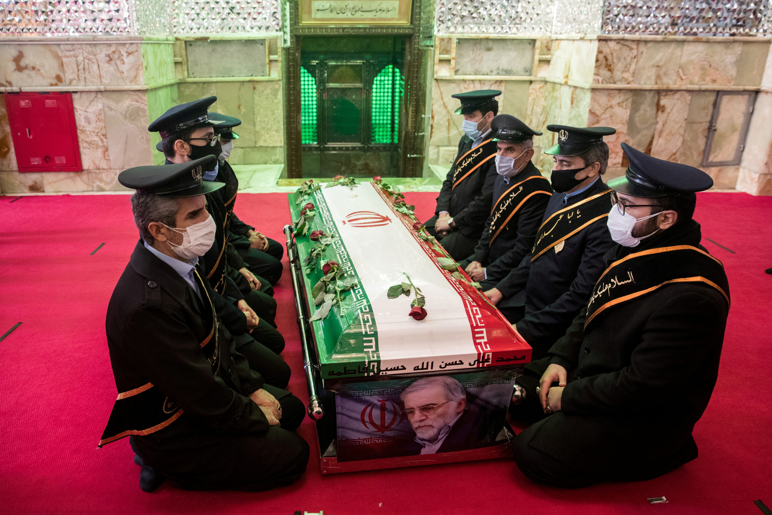 Body of slain top Iranian nuclear scientist during burial ceremony