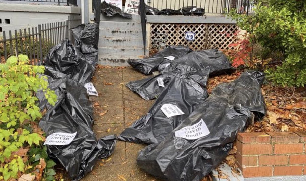 Body bags/Susan Collins DC Home/Obtained by Daily Caller