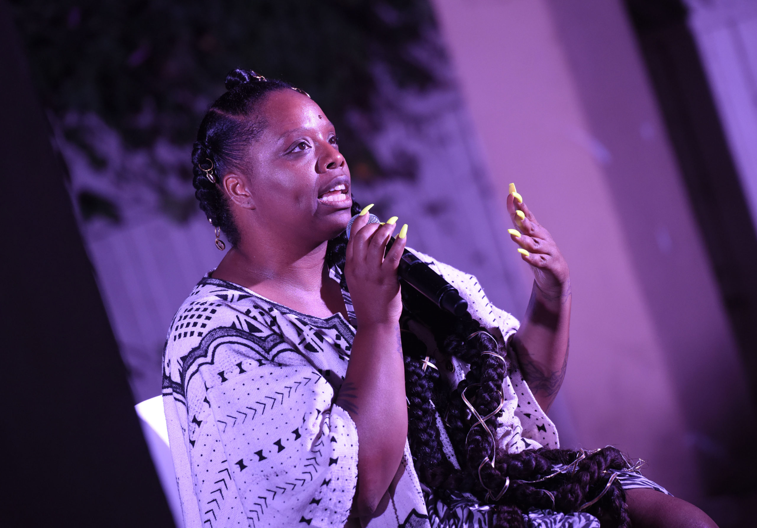 Black Lives Matter Global Network Foundation co-founder and executive director Patrisse Cullors speaks in 2019 in Los Angeles, California. (Vivien Killilea/Getty Images for Patrisse Cullor)