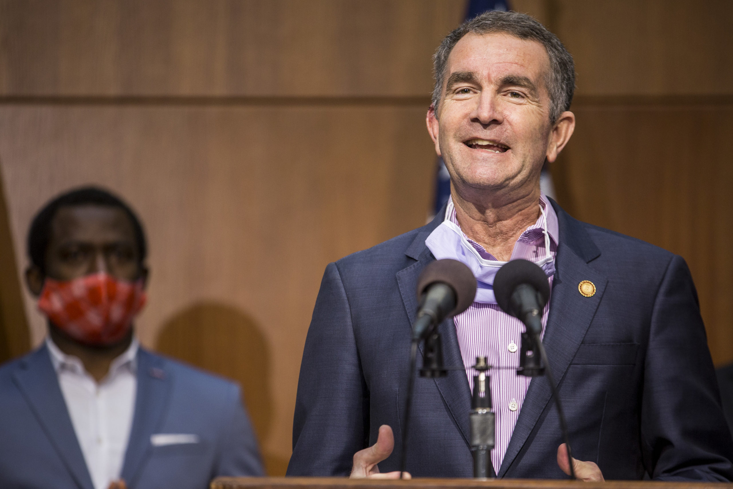Virginia Gov. Ralph Northam speaks during a news conference on June 4, 2020 in Richmond, Virginia. (Zach Gibson/Getty Images)