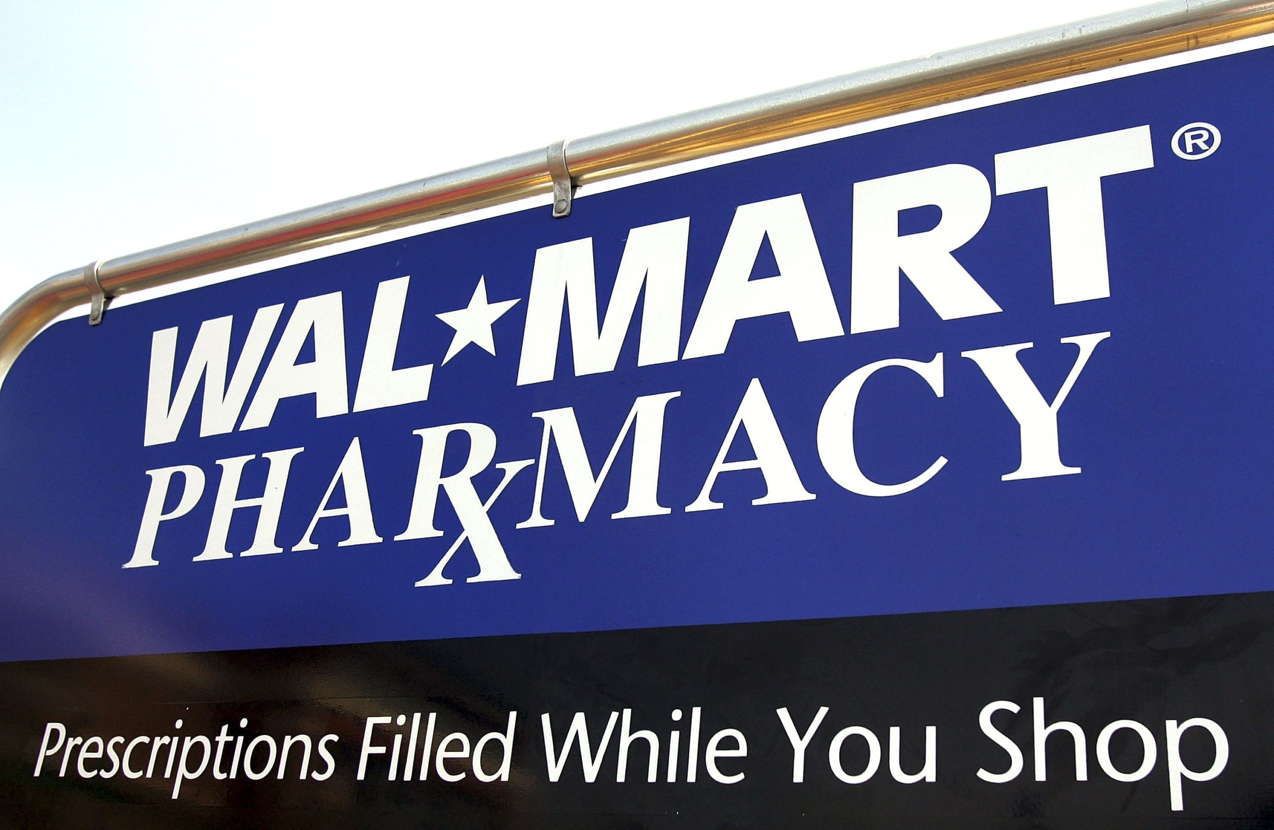 A sign for a Walmart pharmacy seen in Chicago, Illinois. (Tim Boyle/Getty Images)
