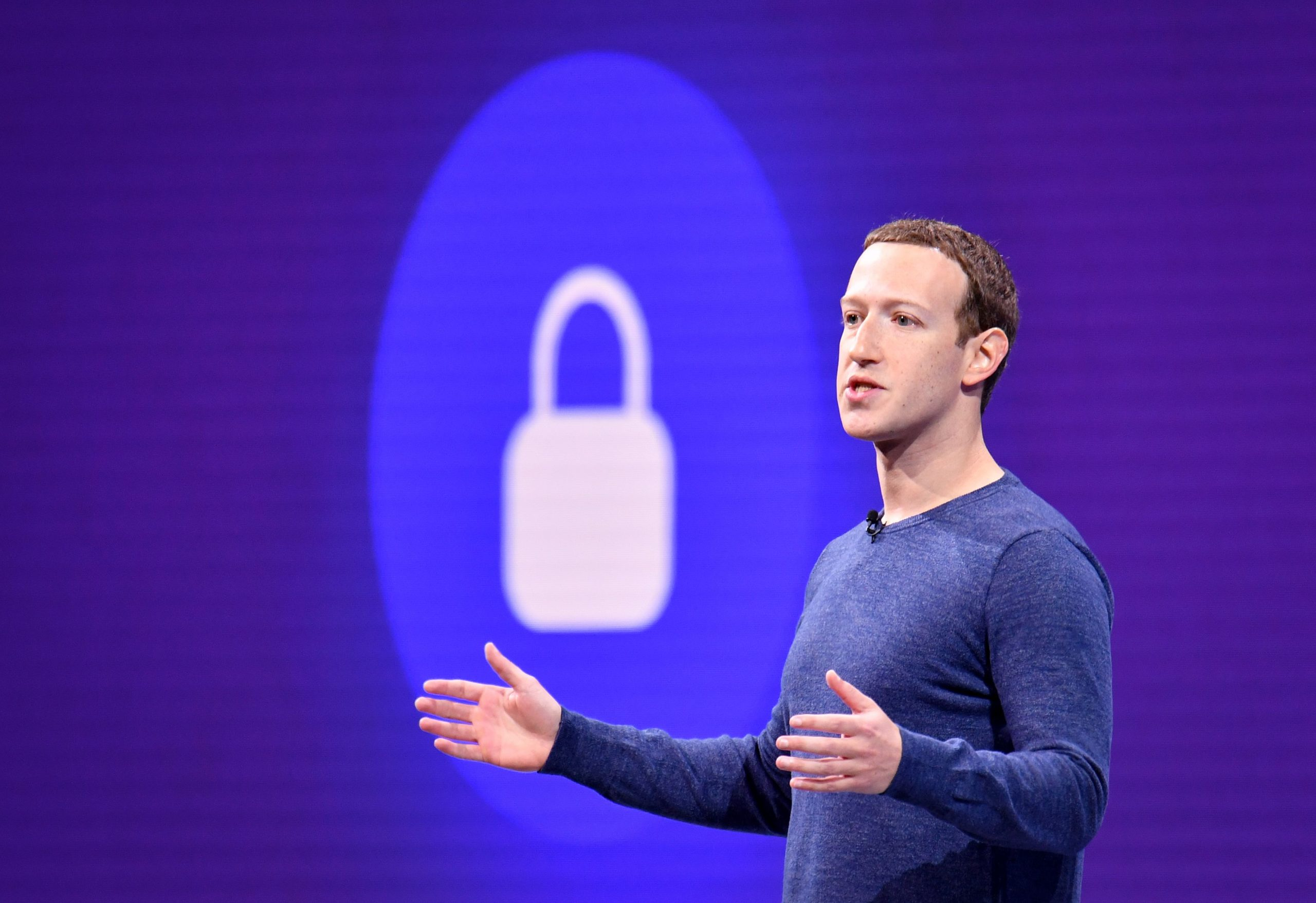 Facebook CEO Mark Zuckerberg speaks during the annual F8 summit at the San Jose McEnery Convention Center in San Jose, California on May 1, 2018. - Facebook chief Mark Zuckerberg announced the world's largest social network will soon include a new dating feature -- while vowing to make privacy protection its top priority in the wake of the Cambridge Analytica scandal. (Photo by JOSH EDELSON / AFP) (Photo credit should read JOSH EDELSON/AFP via Getty Images)
