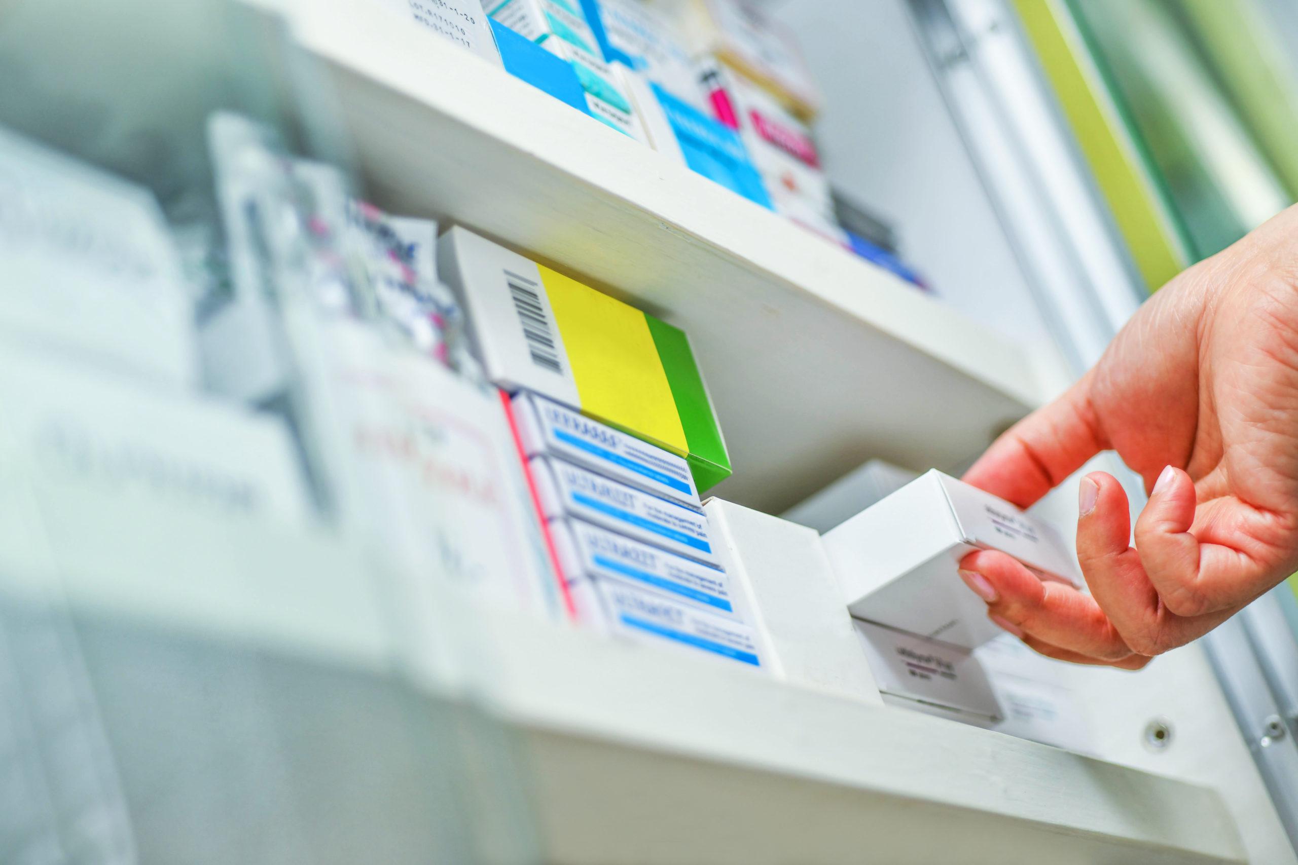 Pharmacy drug cabinet (Photo credit: Shutterstock)