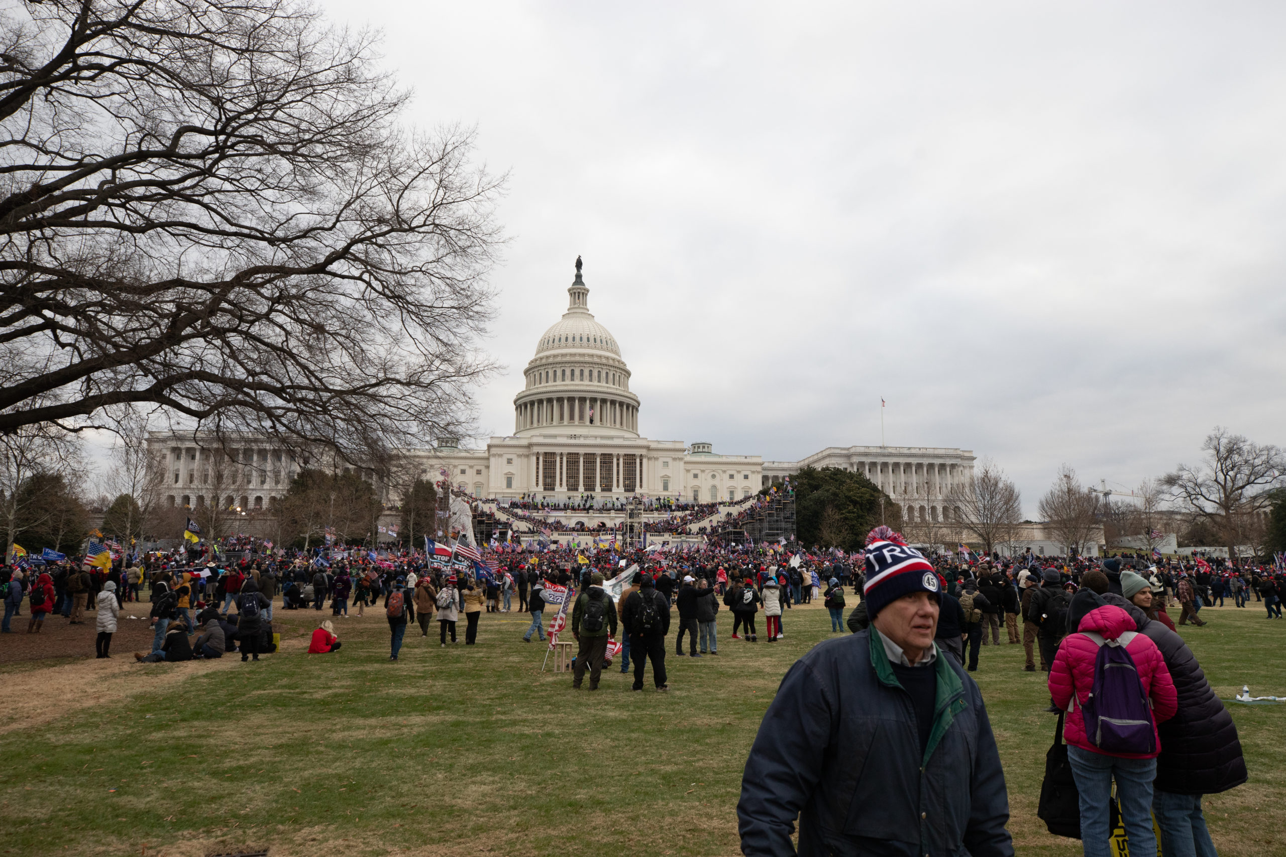 "Pro-President Donald Trump supporters gathered at the U.S. Capitol building for a ""stop the steal"" protest in Washington, D.C. on Jan. 6, 2021. (Kaylee Greenlee - Daily Caller News Foundation)"