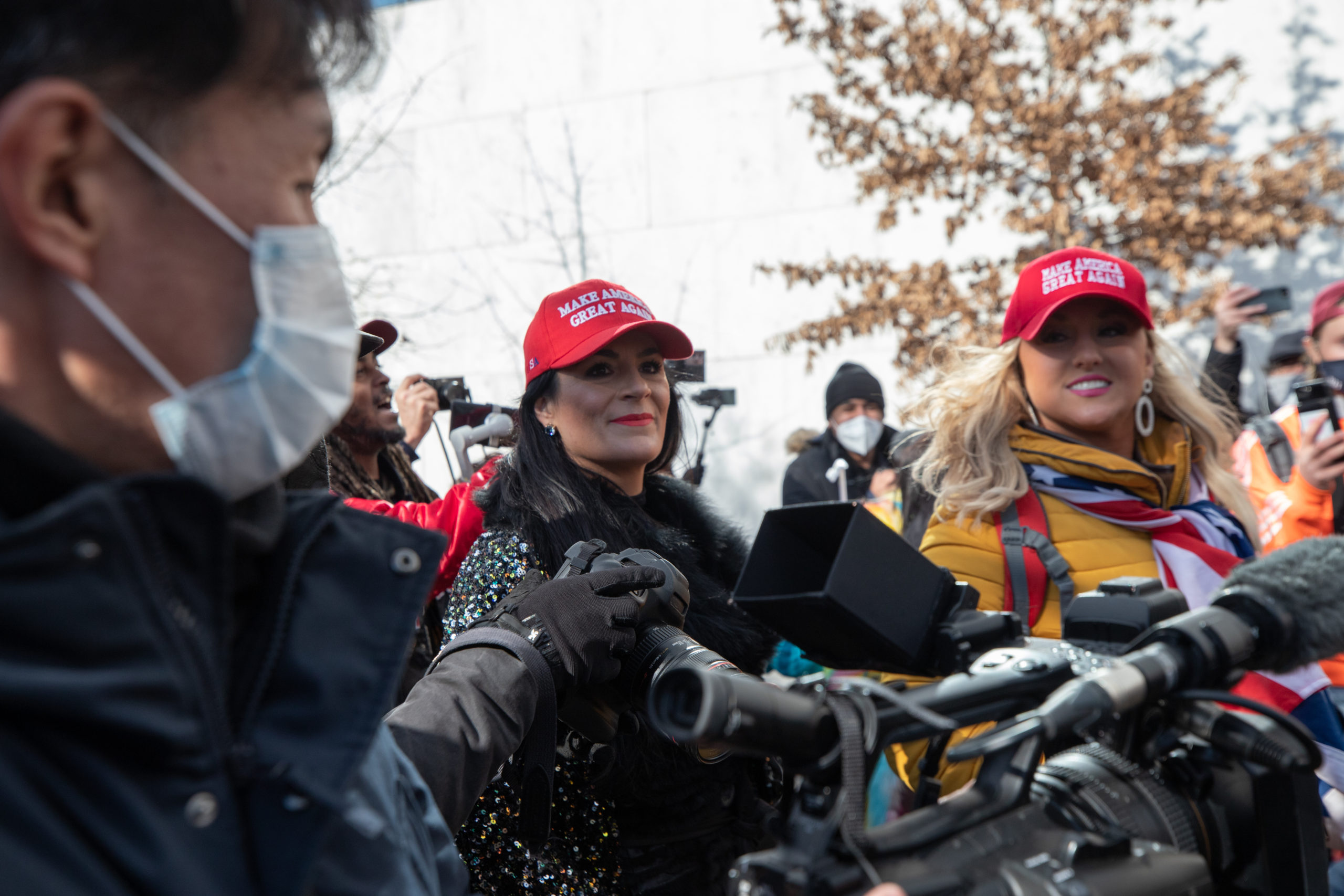 """Lindey-Anne Hopley wore a """"Make America Great Again"""" hat around Washington, D.C. on Jan. 20, 2021. (Kaylee Greenlee - Daily Caller News Foundation)"""
