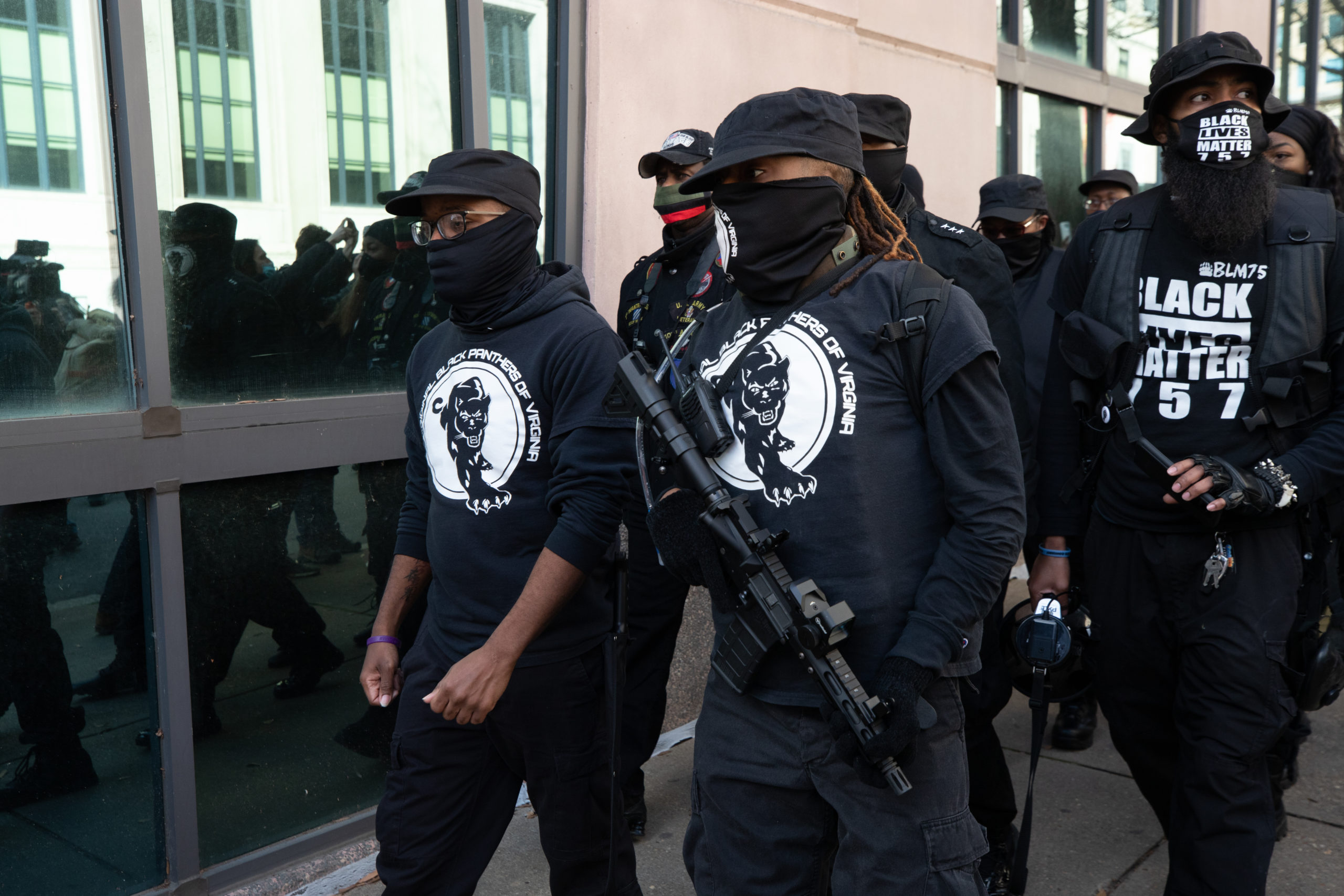 """Armed members of the """"Original Black Panthers"""" participated in Lobby Day demonstrations in Richmond, Virginia on January 18, 2021. (Kaylee Greenlee - Daily Caller News Foundation)"""