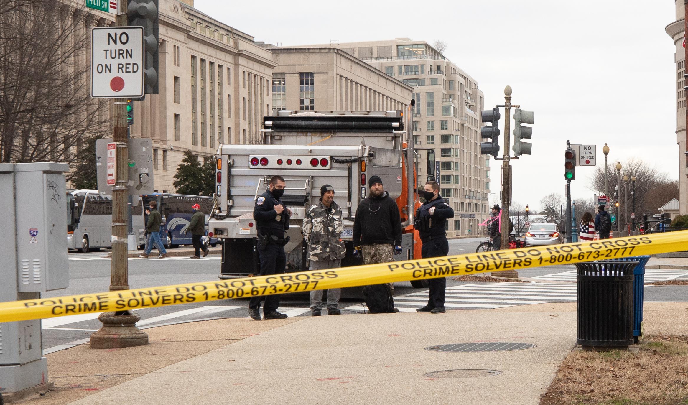 """Big John/Jon"" was arrested for having an AR-15 ""upper"" in Washington, D.C. on Jan. 6, 2021. (Kaylee Greenlee – Daily Caller News Foundation)"