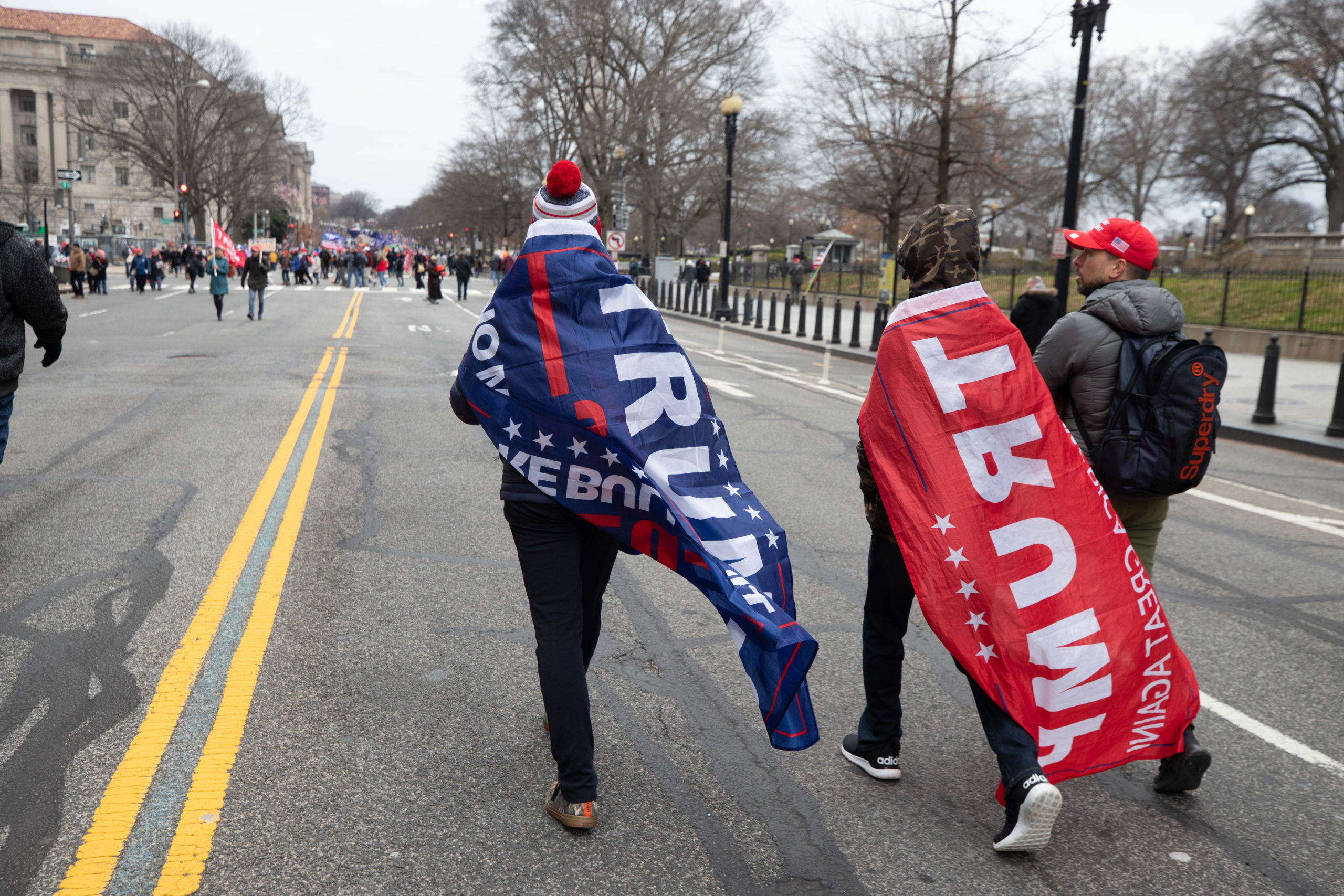 Pro-President Donald Trump supporters headed to The Ellipses to hear the president speak at a rally in Washington, D.C. on Jan. 6, 2021. (Kaylee Greenlee – Daily Caller News Foundation)