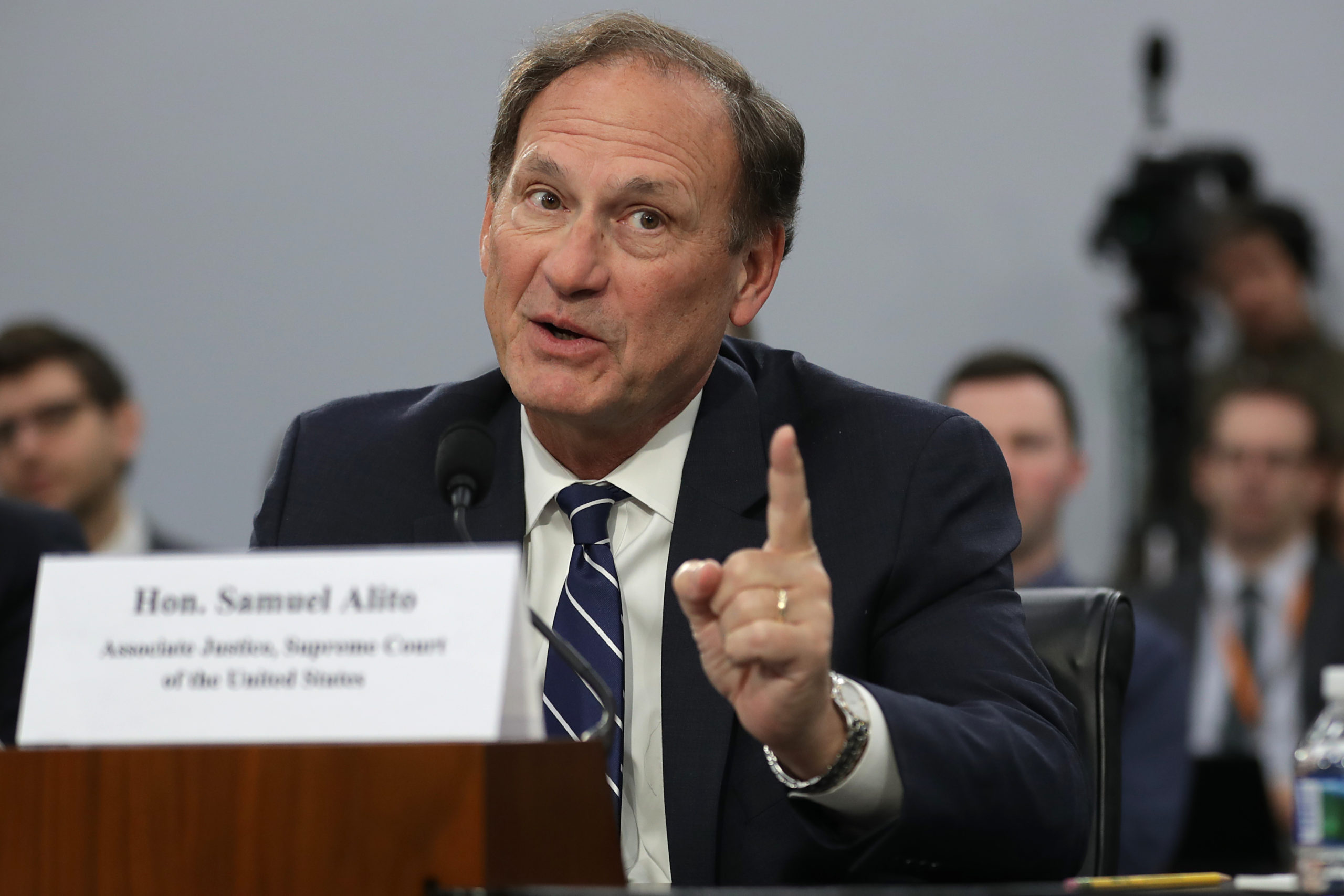 WASHINGTON, DC - MARCH 07: U.S. Supreme Court Associate Justice Samuel Alito testifies about the court's budget during a hearing of the House Appropriations Committee's Financial Services and General Government Subcommittee March 07, 2019 in Washington, DC. Members of the subcommittee asked the justices about court security, televising oral arguments and codes of ethics for the court. (Photo by Chip Somodevilla/Getty Images)